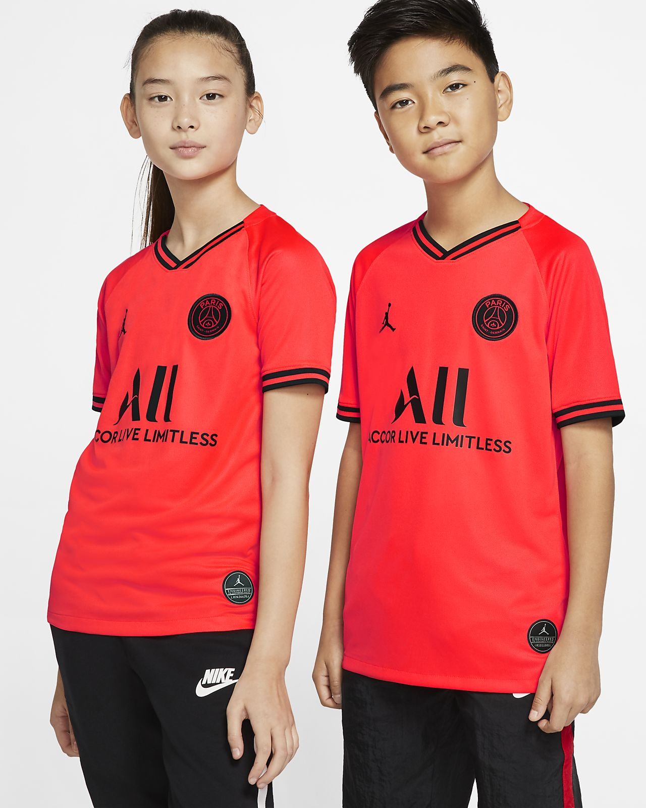 Jordan x Paris Saint-Germain 2019/20 Stadium Away Big Kids' Soccer Jersey