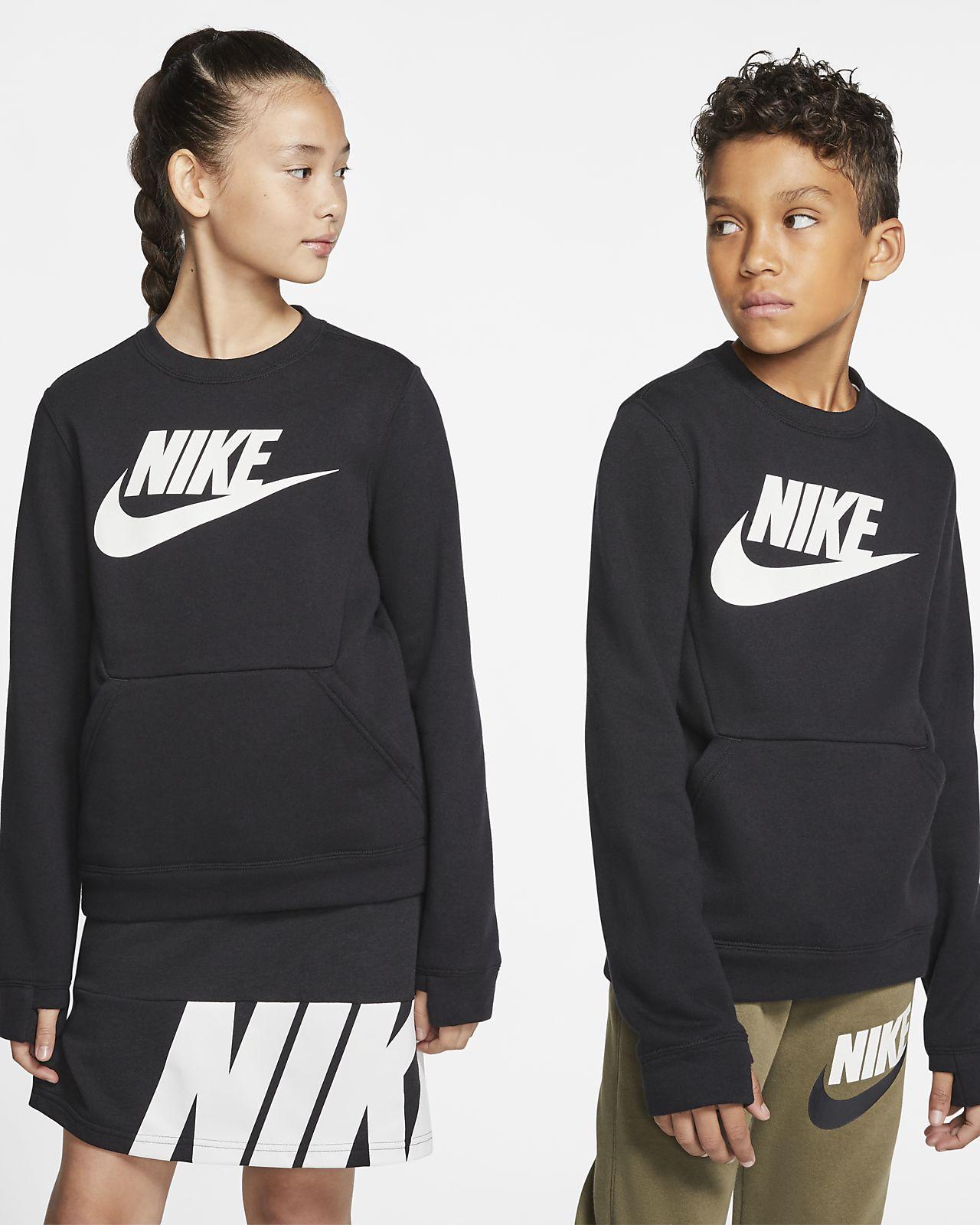 sélectionner pour le dédouanement meilleur en ligne les ventes chaudes Nike Sportswear Club Fleece Older Kids' Crew