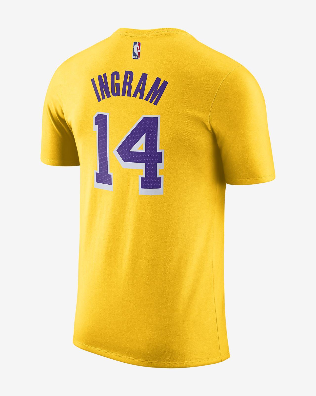 8b22ac73625 Brandon Ingram Los Angeles Lakers Nike Dri-FIT Men s NBA T-Shirt ...