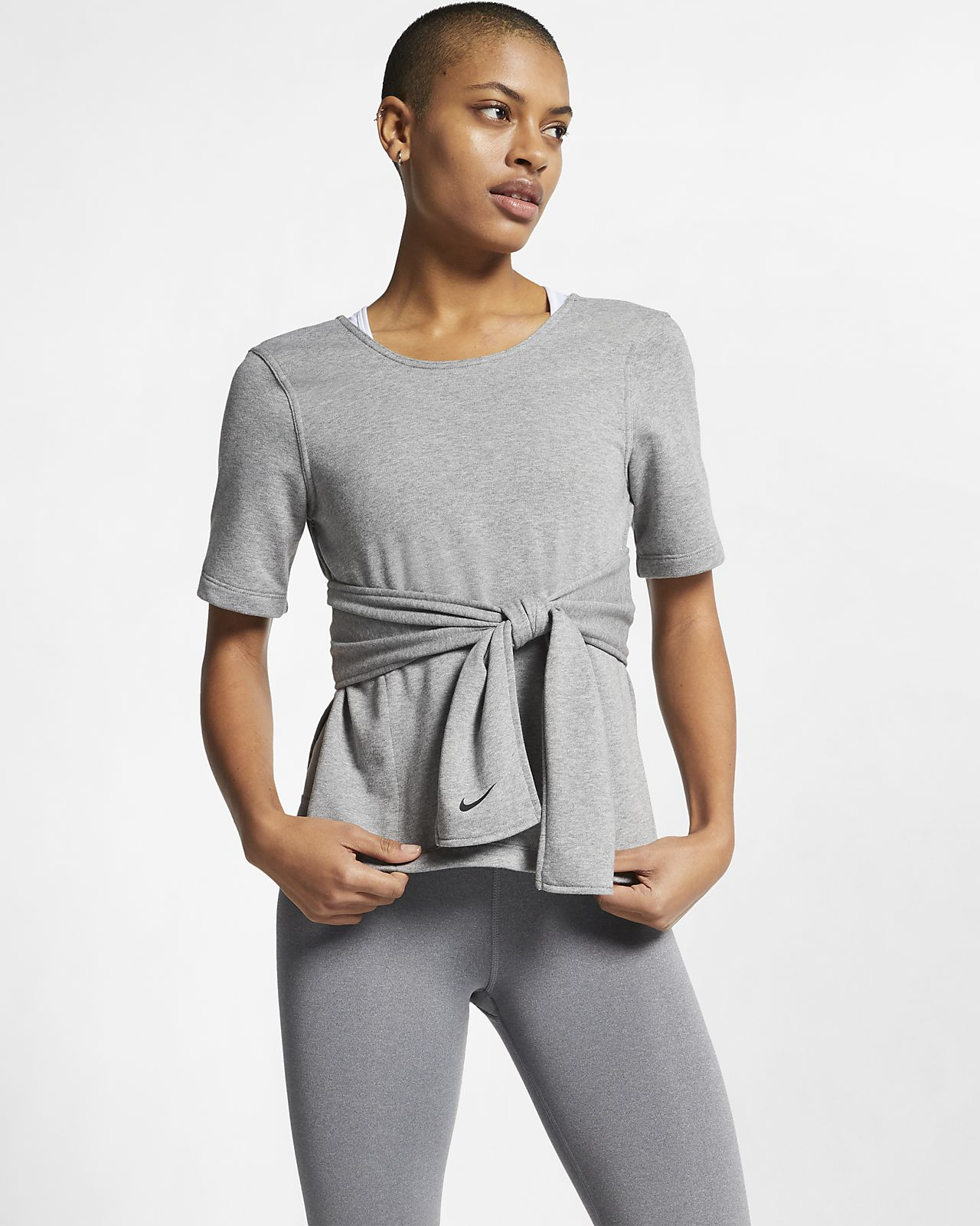 Nike Studio rövid ujjú női edzőfelső jógához