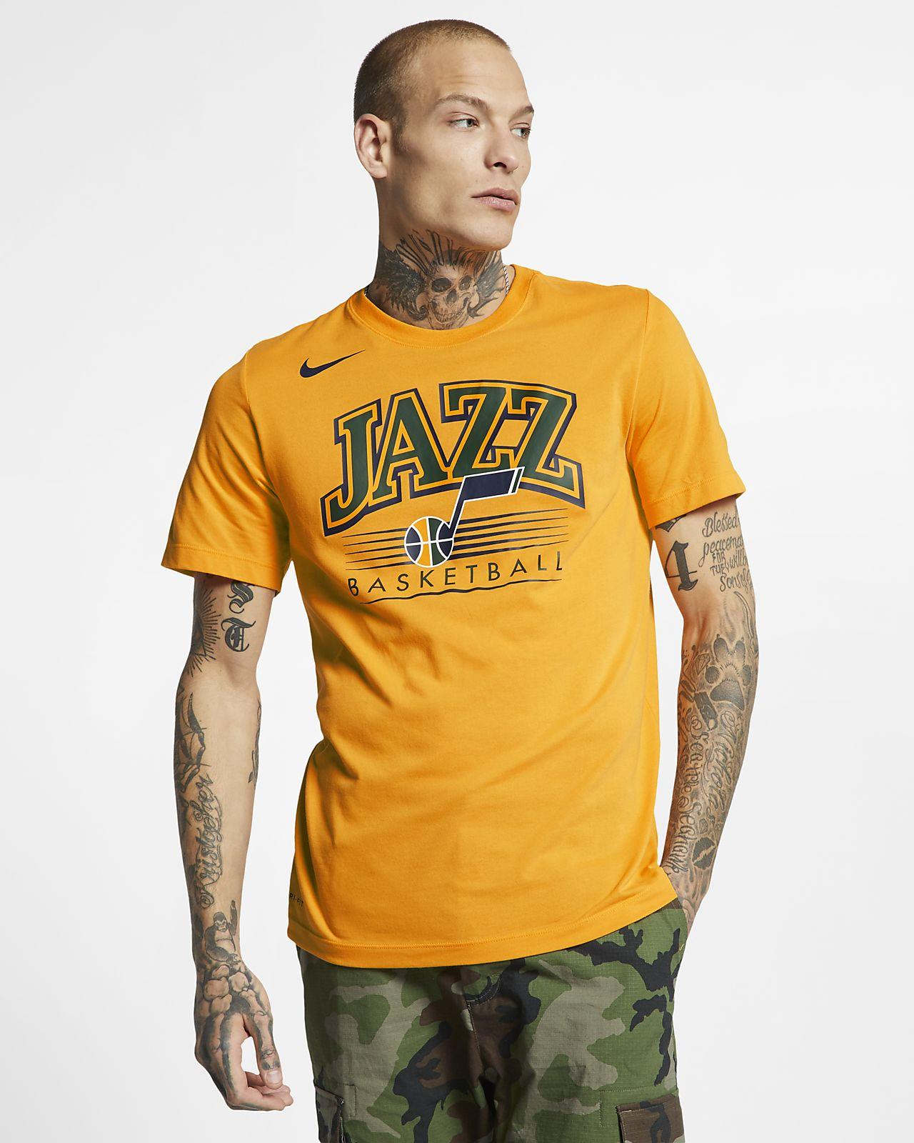 Utah Jazz Nike Dri-FIT NBA-s férfipóló