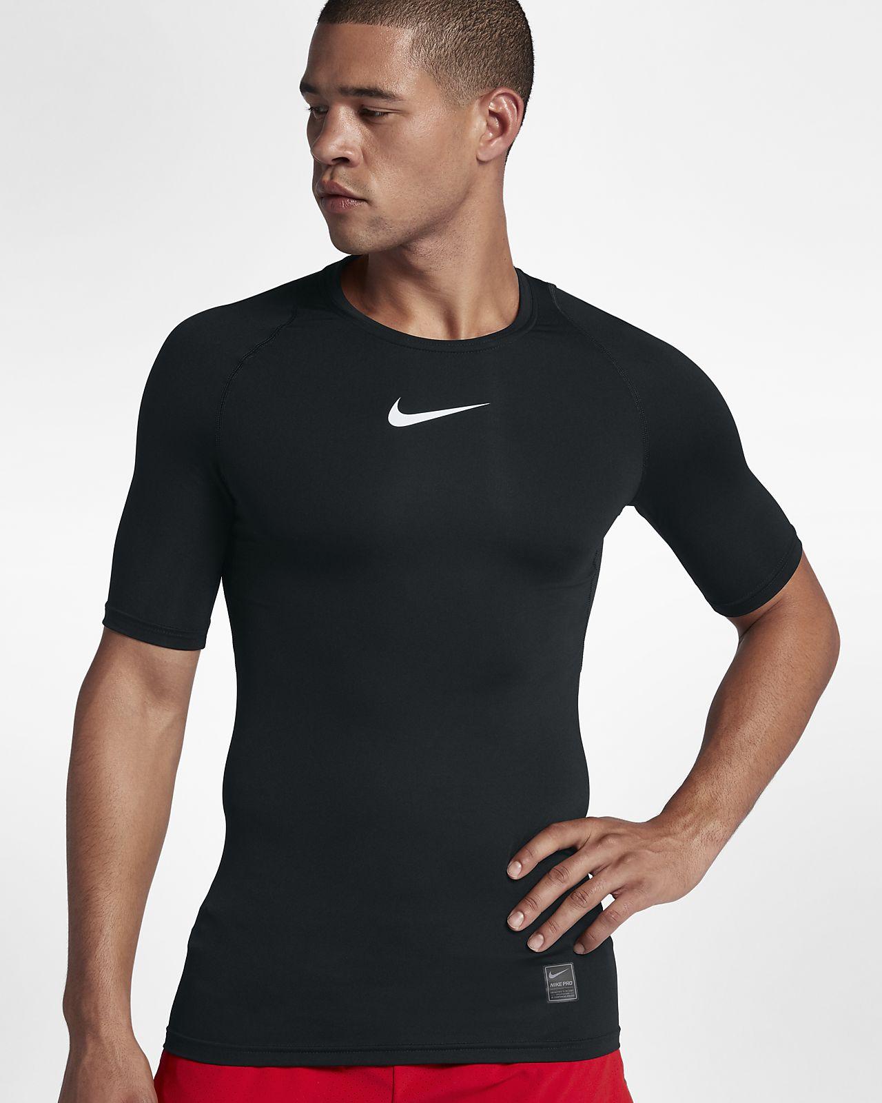Camisola de treino de manga curta Nike Pro para homem