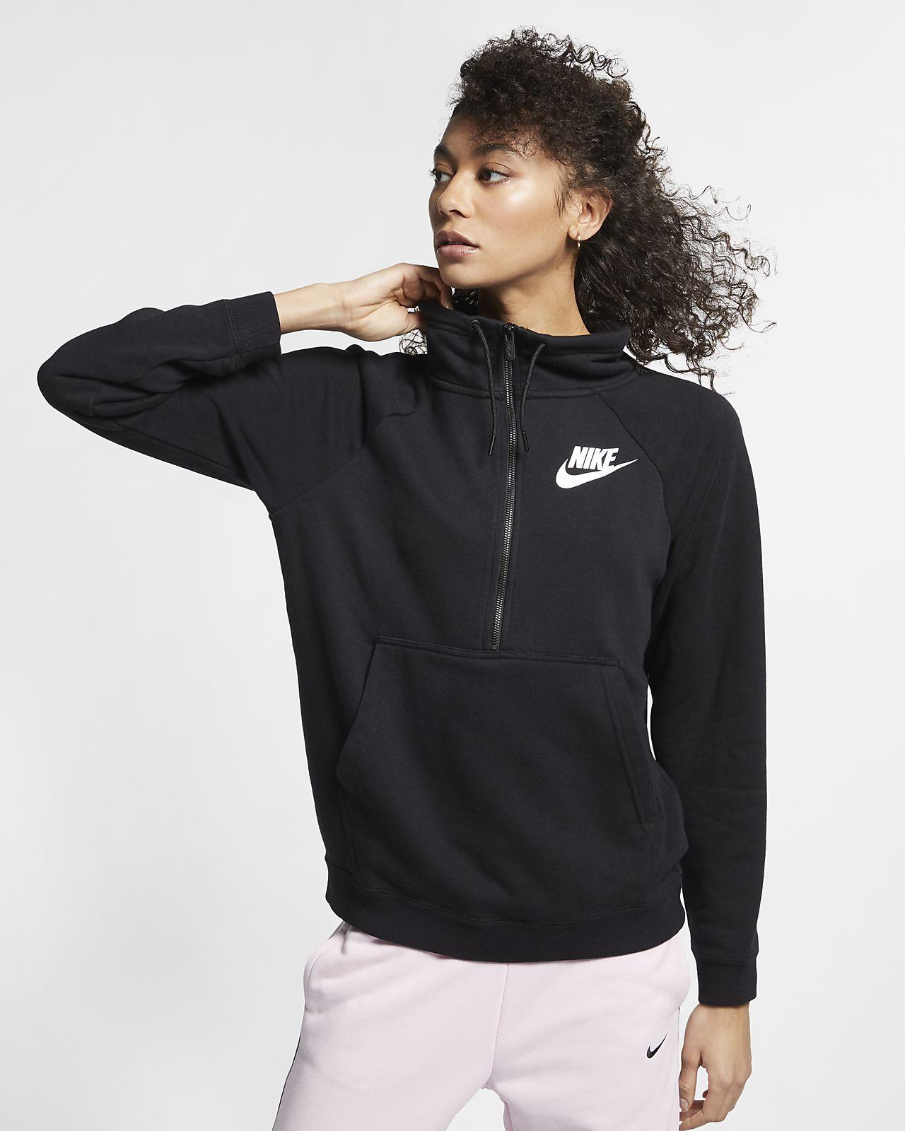 58e62c3e2 Nike Sportswear Rally Women's Long-Sleeve 1/2-Zip Top. Nike.com