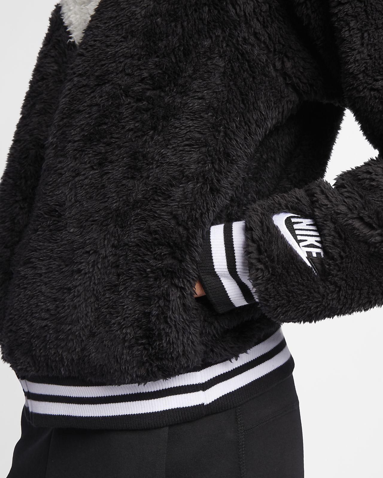 180ad9dd940 Nike Sportswear Women s Sherpa Bomber Jacket. Nike.com