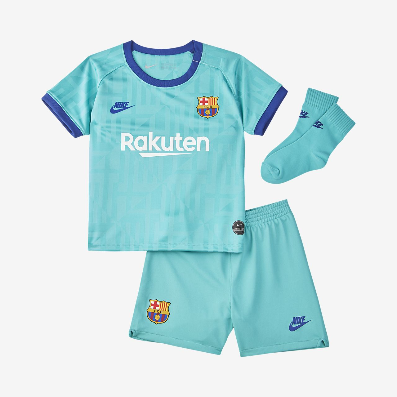 FC Barcelona 2019/20 Third fotballsett til sped-/småbarn