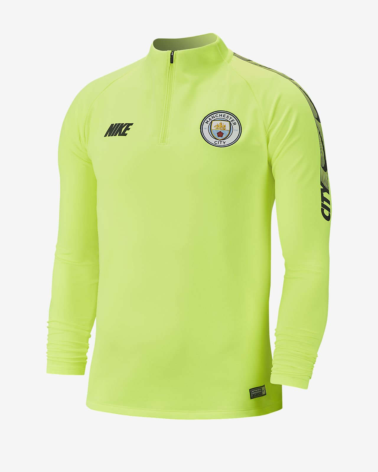 Manchester City FC Dri-FIT Squad Drill langermet fotballoverdel til herre