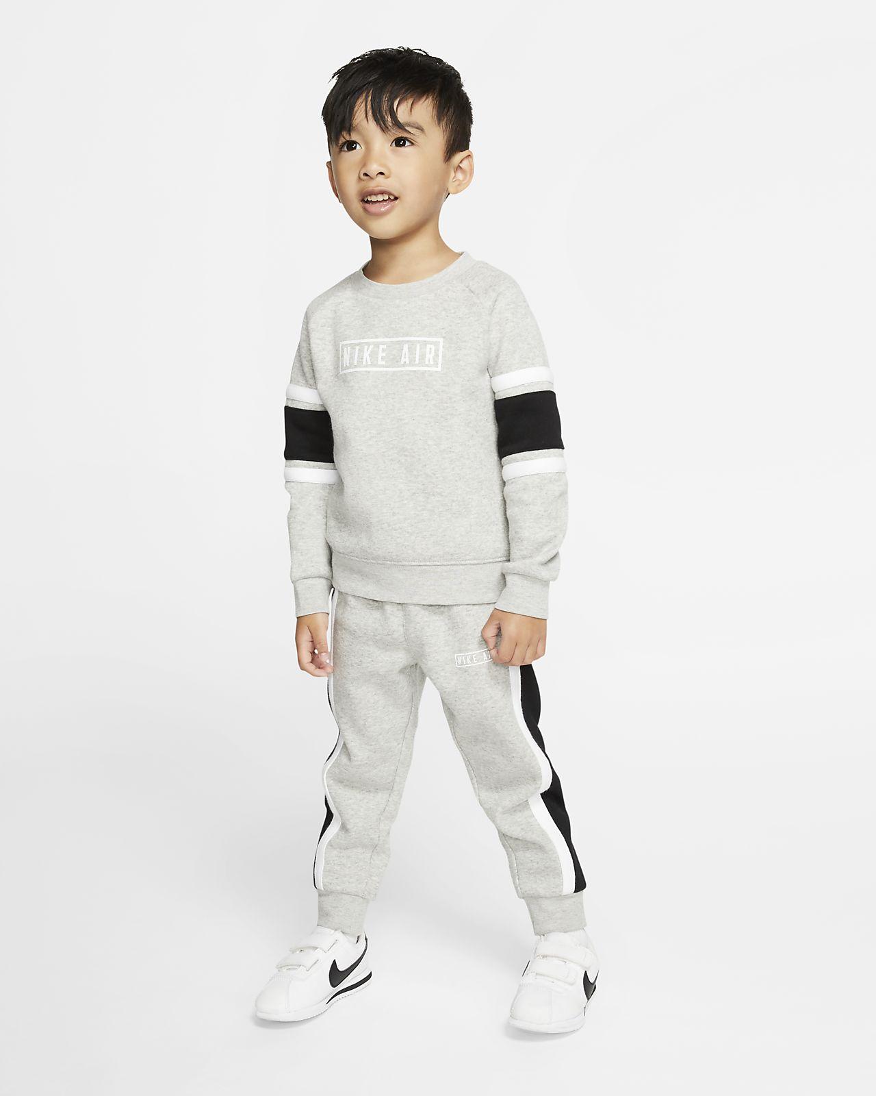 Dvoudílná souprava Nike Air, mikina s kulatým výstřihem a tepláky pro kojence a batolata