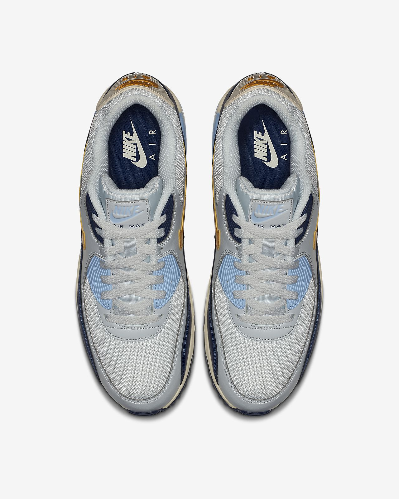 big sale 0ac19 79e62 scarpa nike air max 90 essential pure platinum blue void royal tint yellow  ochre aj1285-008