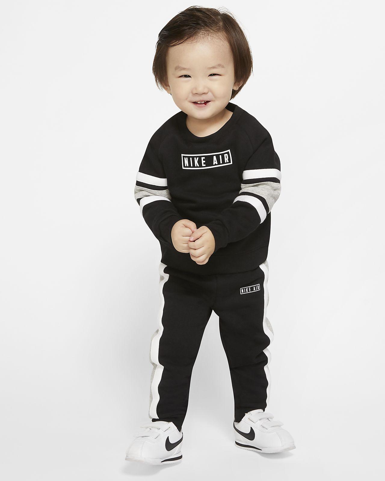 Nike Air-sæt med crewtrøje og joggingukser til babyer