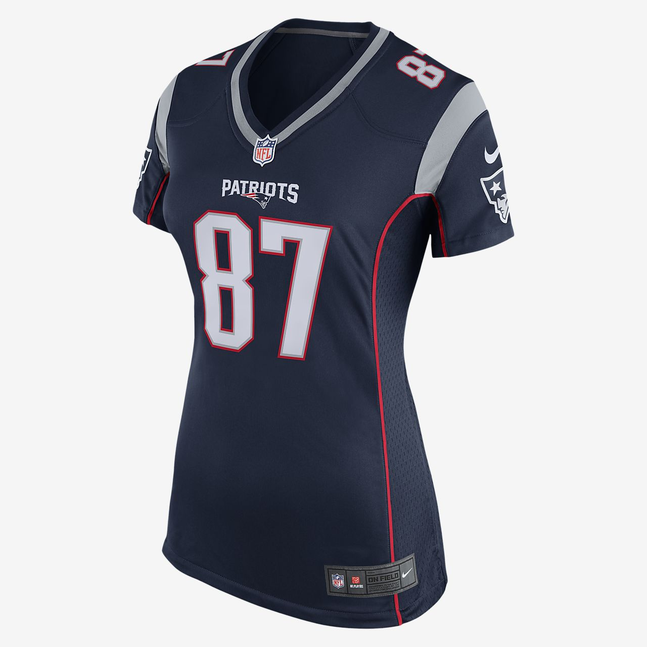 1e969080 ... NFL New England Patriots (Rob Gronkowski) Women's Football Home Game  Jersey