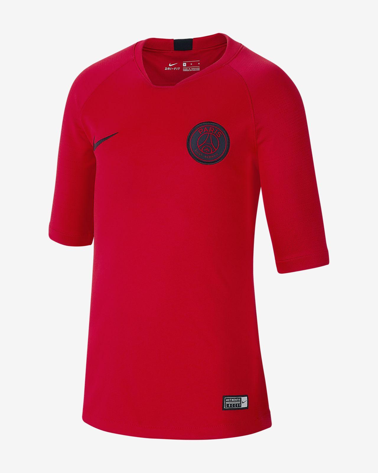 Haut de football à manches courtes Nike Breathe Paris Saint-Germain Strike pour Enfant plus âgé
