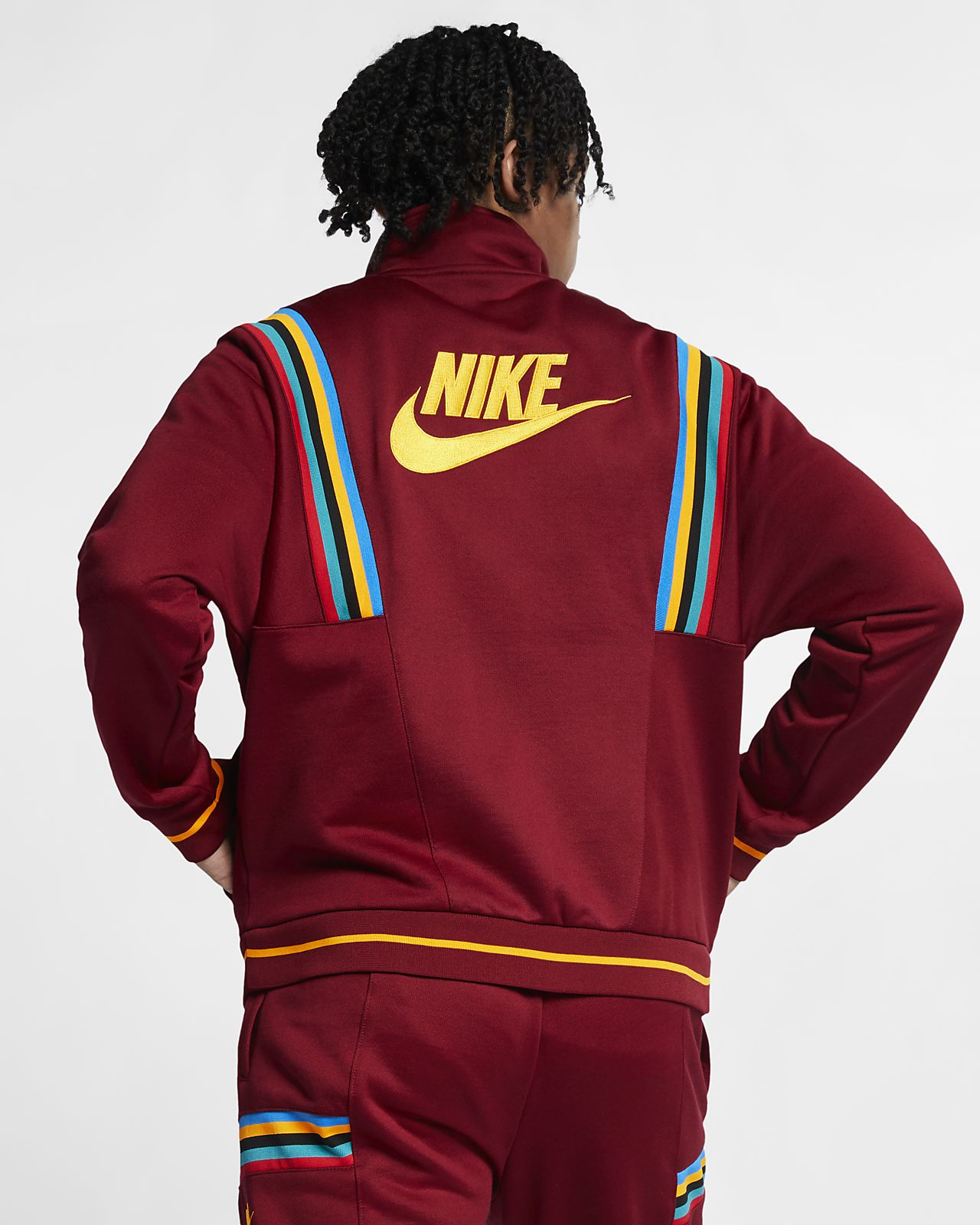 giacca french terry nike