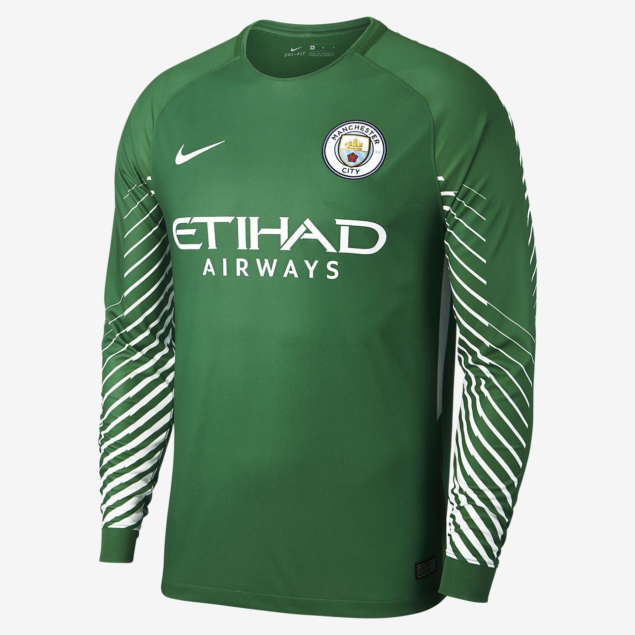 5491c160804 Men s Long-Sleeve Football Shirt. 2017 18 Manchester City FC Stadium  Goalkeeper