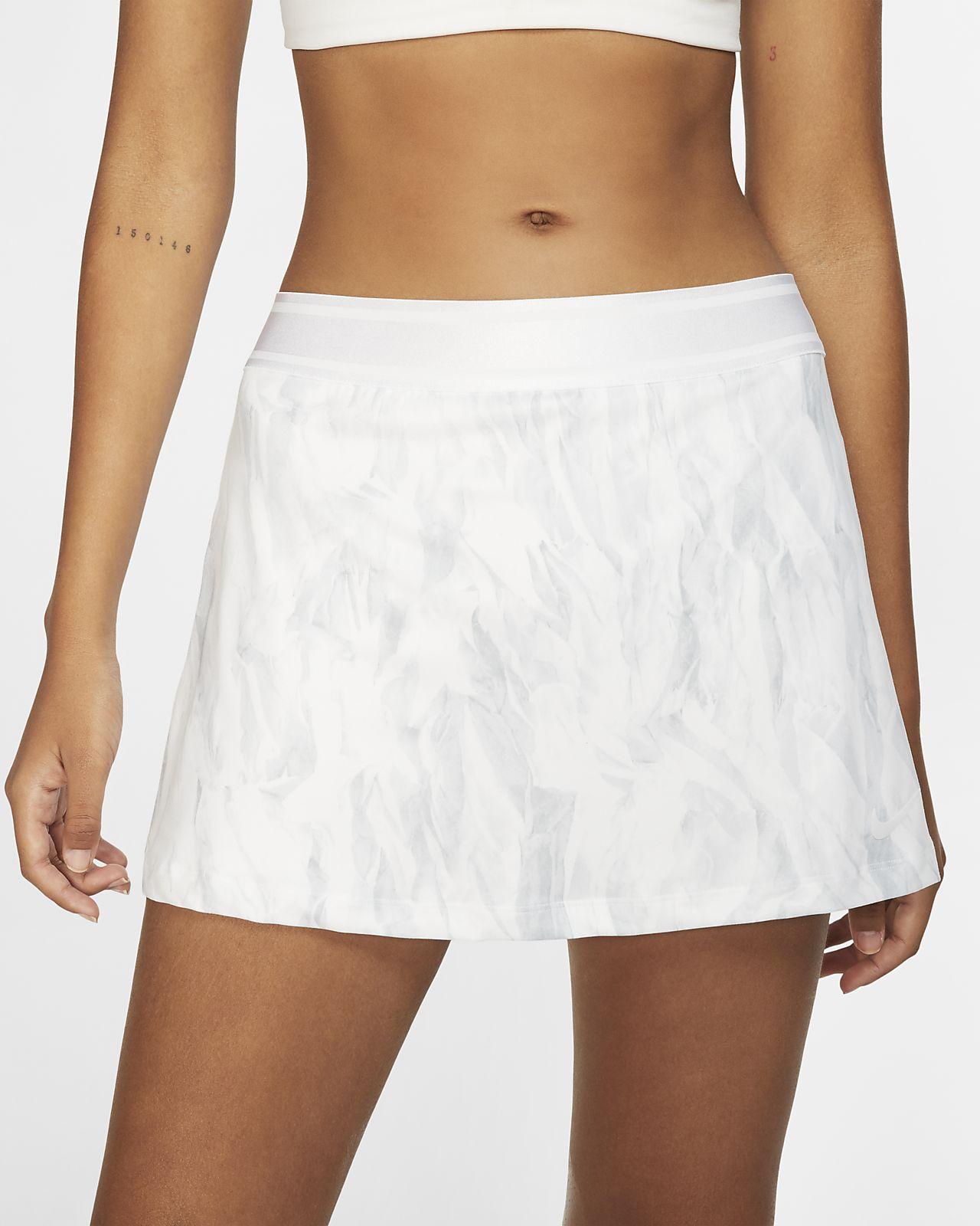 NikeCourt-tennisnederdel med print til kvinder