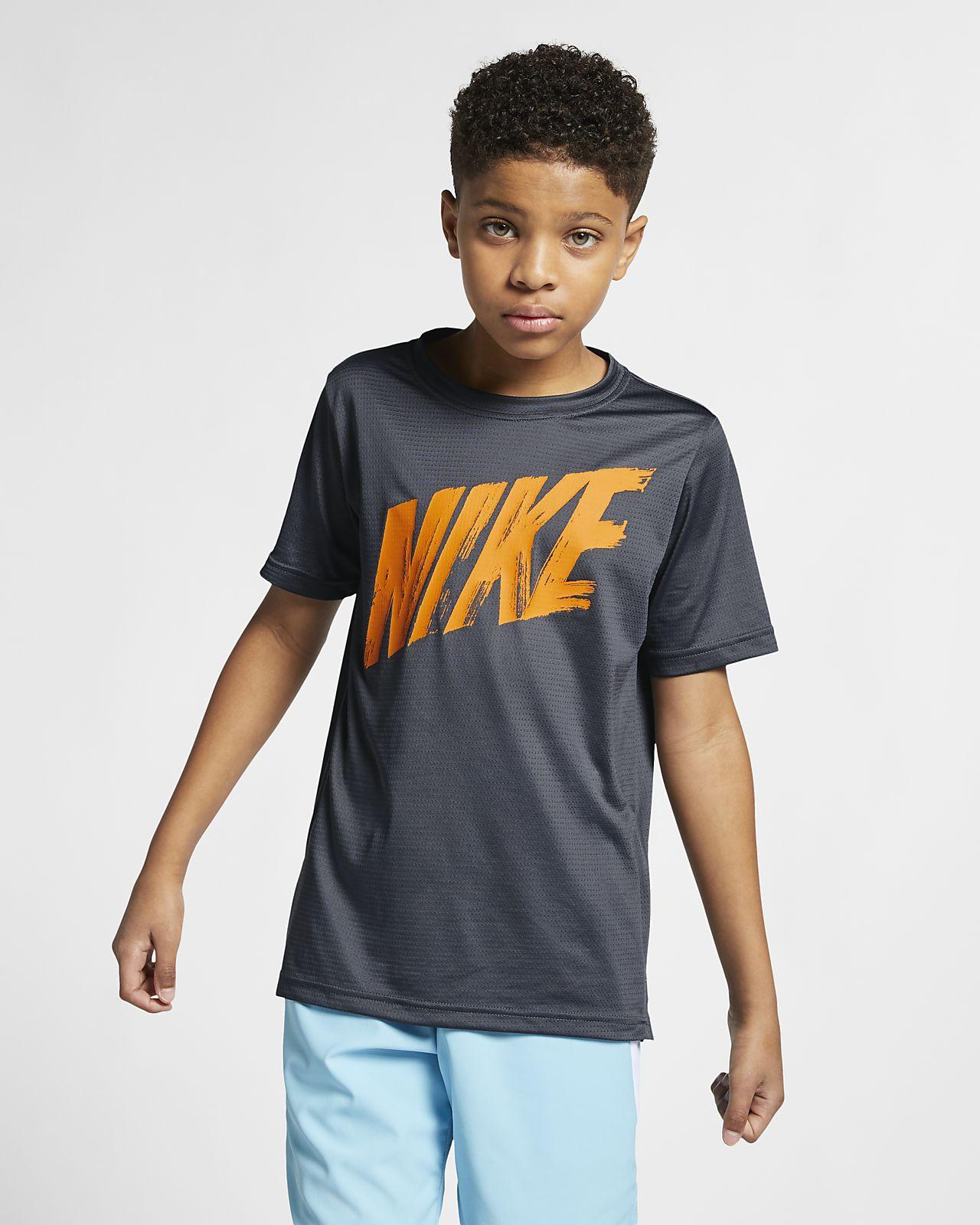 Tréninkové tričko s krátkým rukávem Nike Dri-FIT pro větší děti (chlapce)