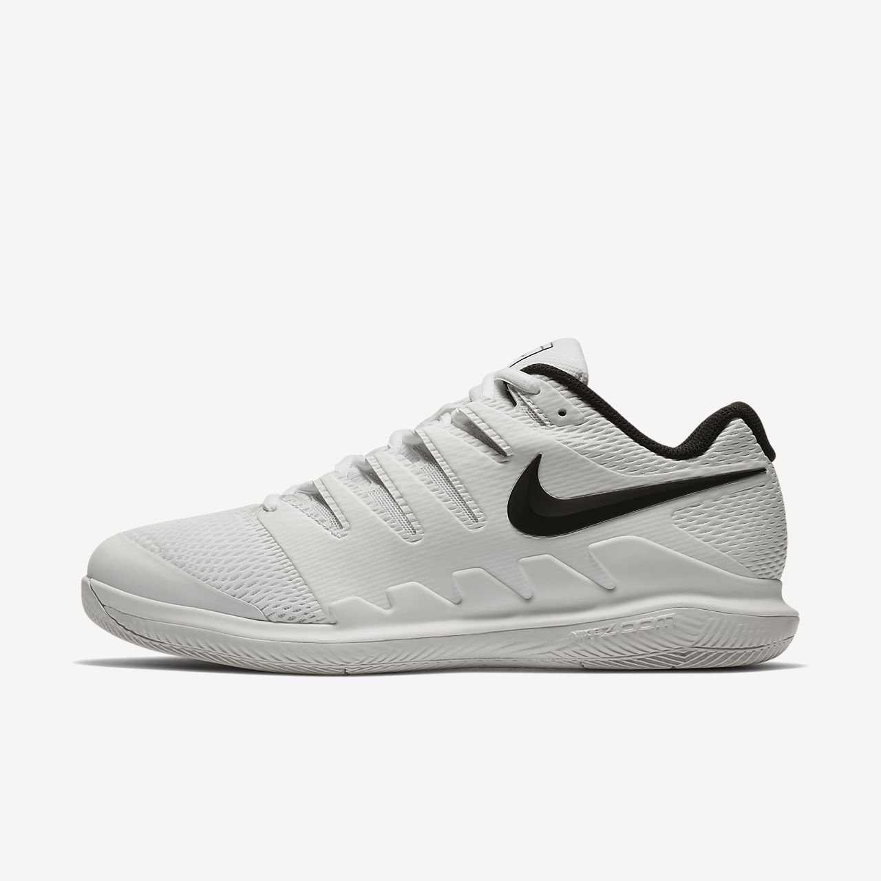 Nike Performance AIR ZOOM VAPOR X HC - Outdoor tennis shoes - white/vast grey 4iMPd
