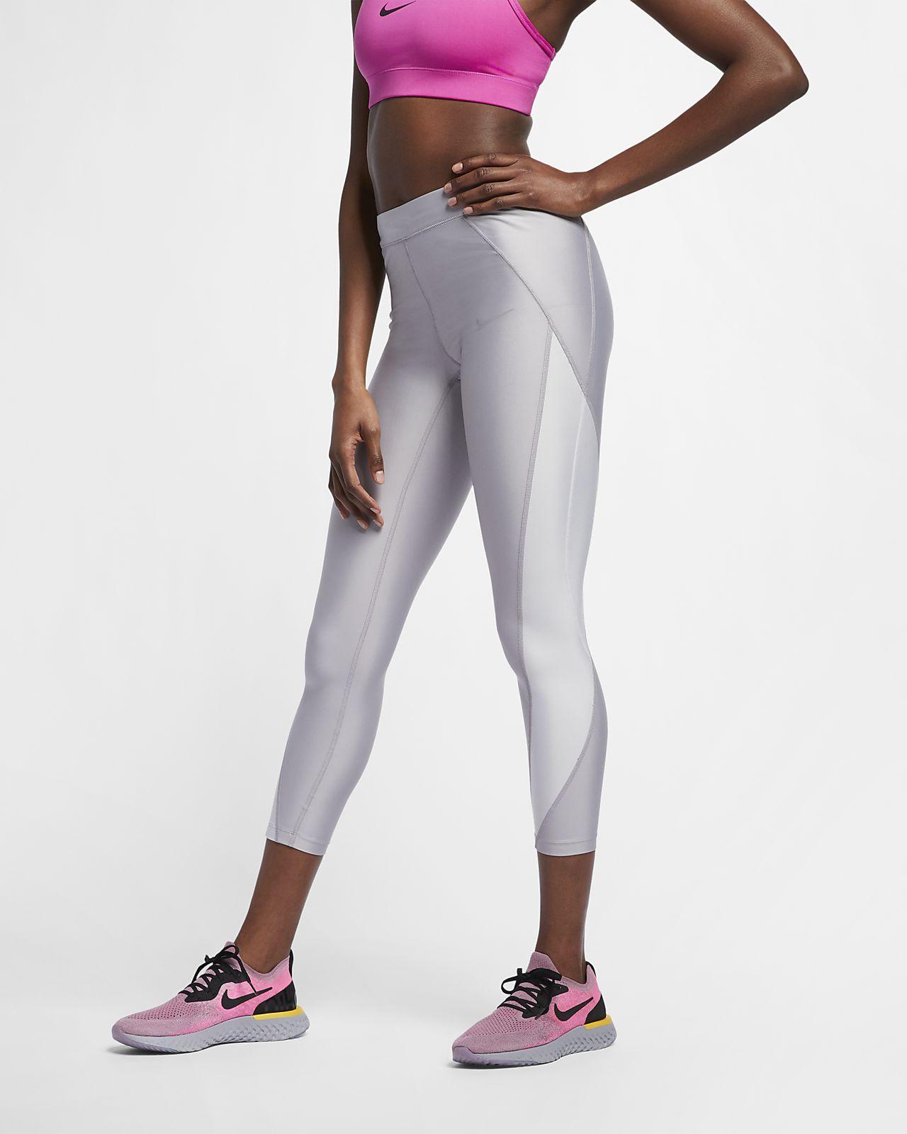 Tights da running metallizzati a 7/8 a vita media Nike Speed - Donna