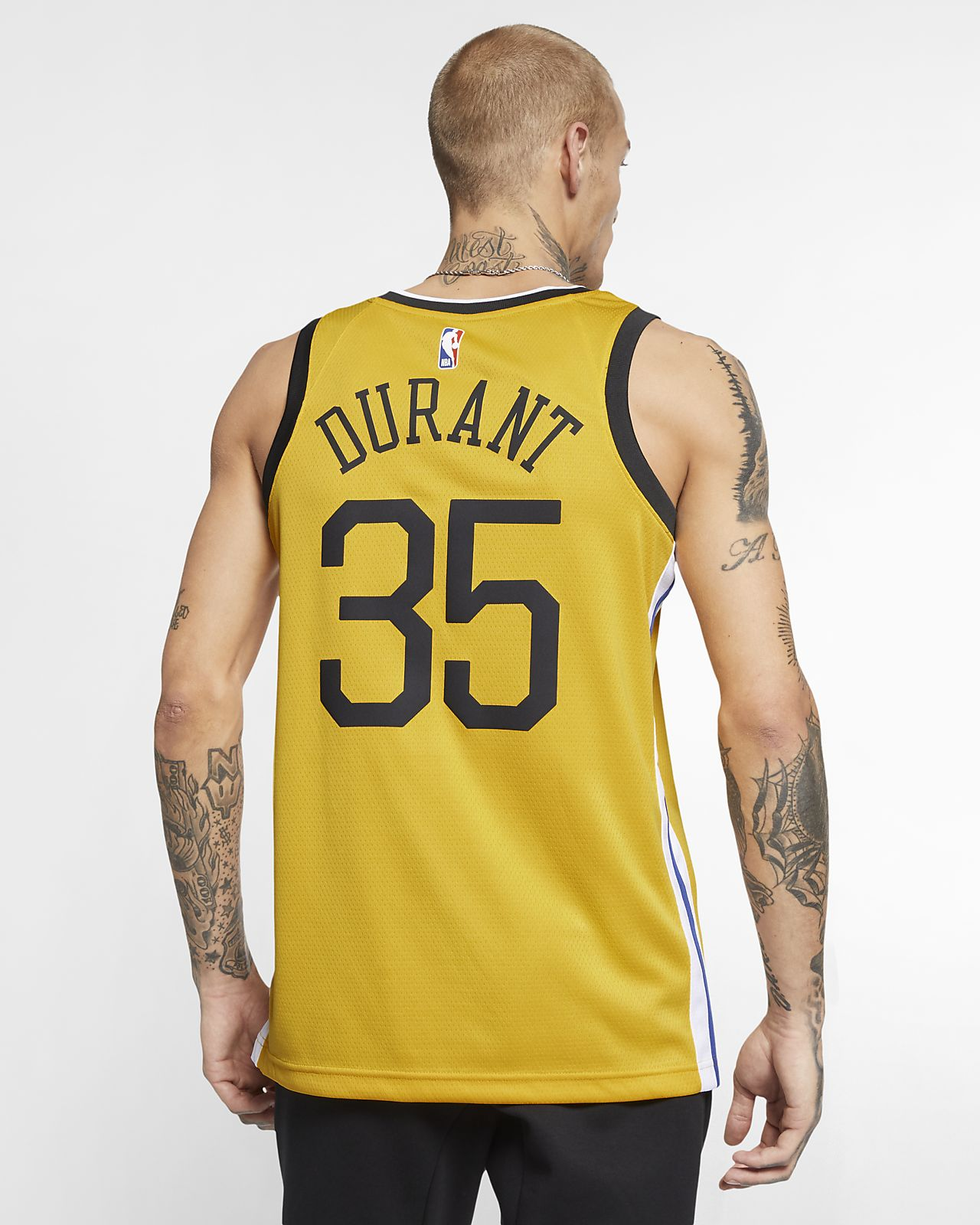 3e5557dcfed ... Maillot connecté Nike NBA Kevin Durant Earned City Edition Swingman (Golden  State Warriors) pour