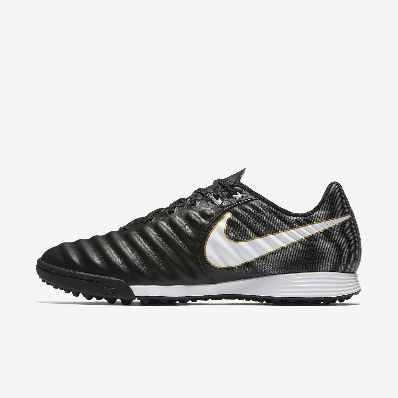 Nike Tiempox Ligera Iv TF, Chaussures de Football Homme, Noir (Black/White/Black 002), 39 EU