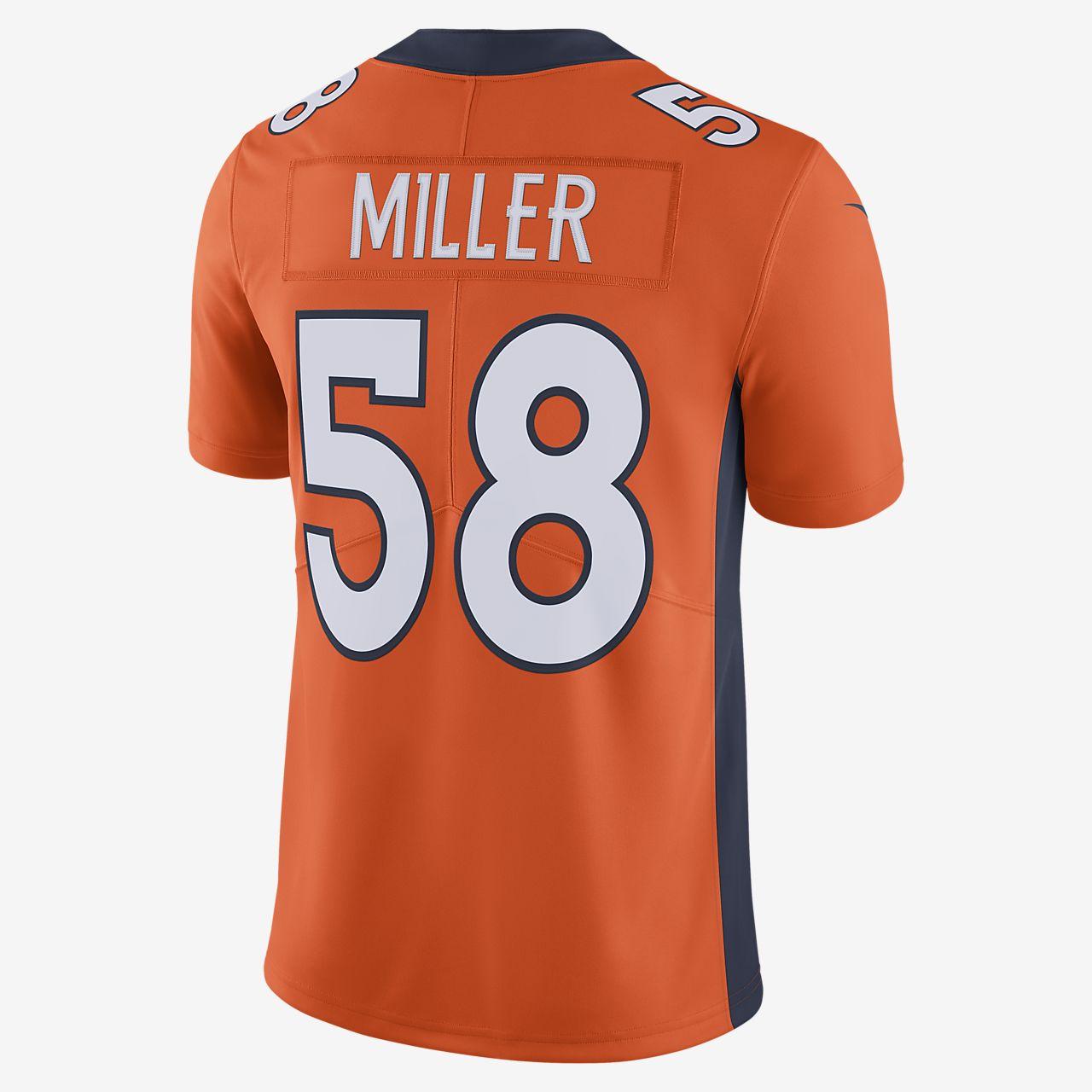 2b05602bc8b ... NFL Denver Broncos (Von Miller) Men's Football Home Limited Jersey