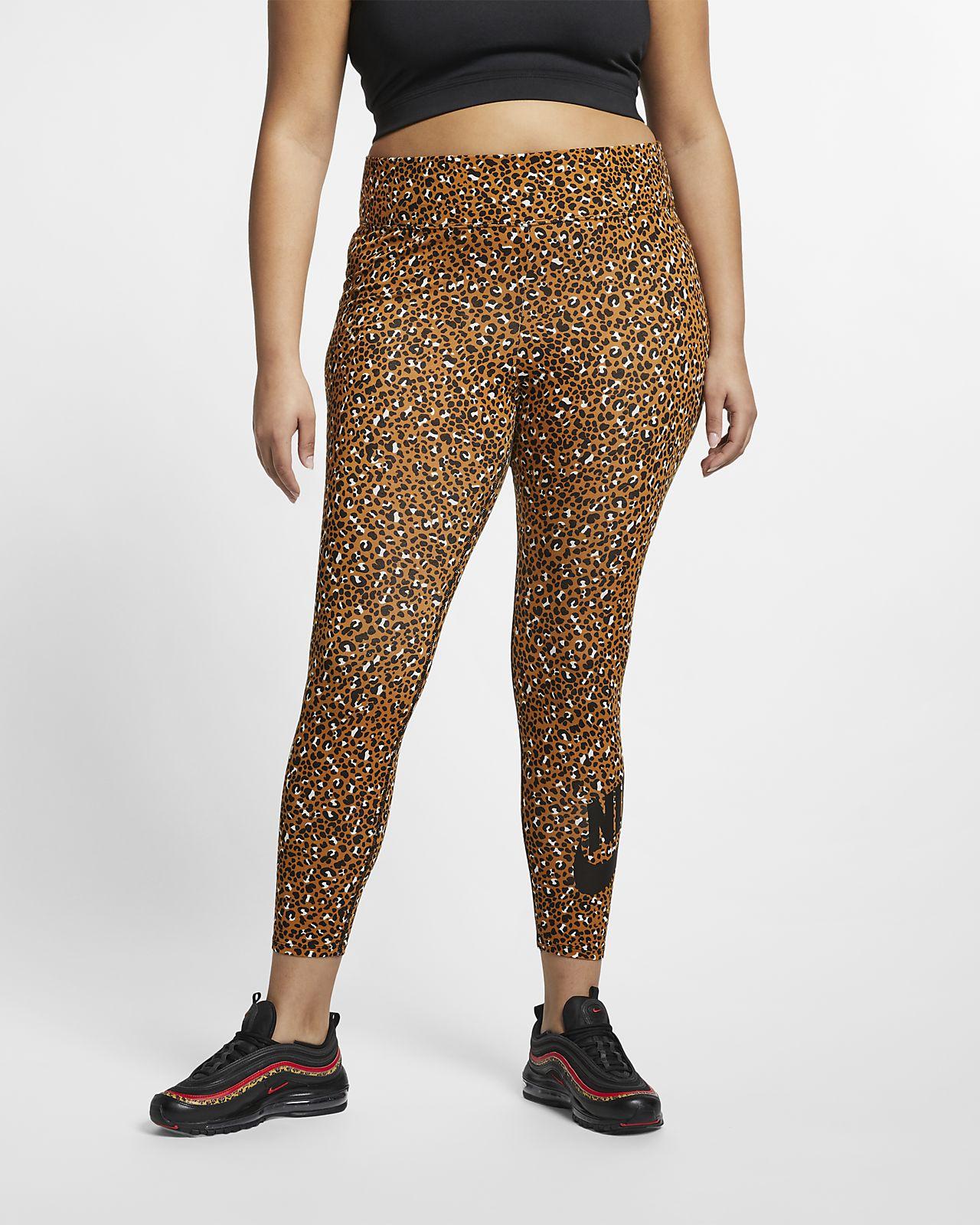 Leggings Nike Sportswear Animal Print för kvinnor (stora storlekar)
