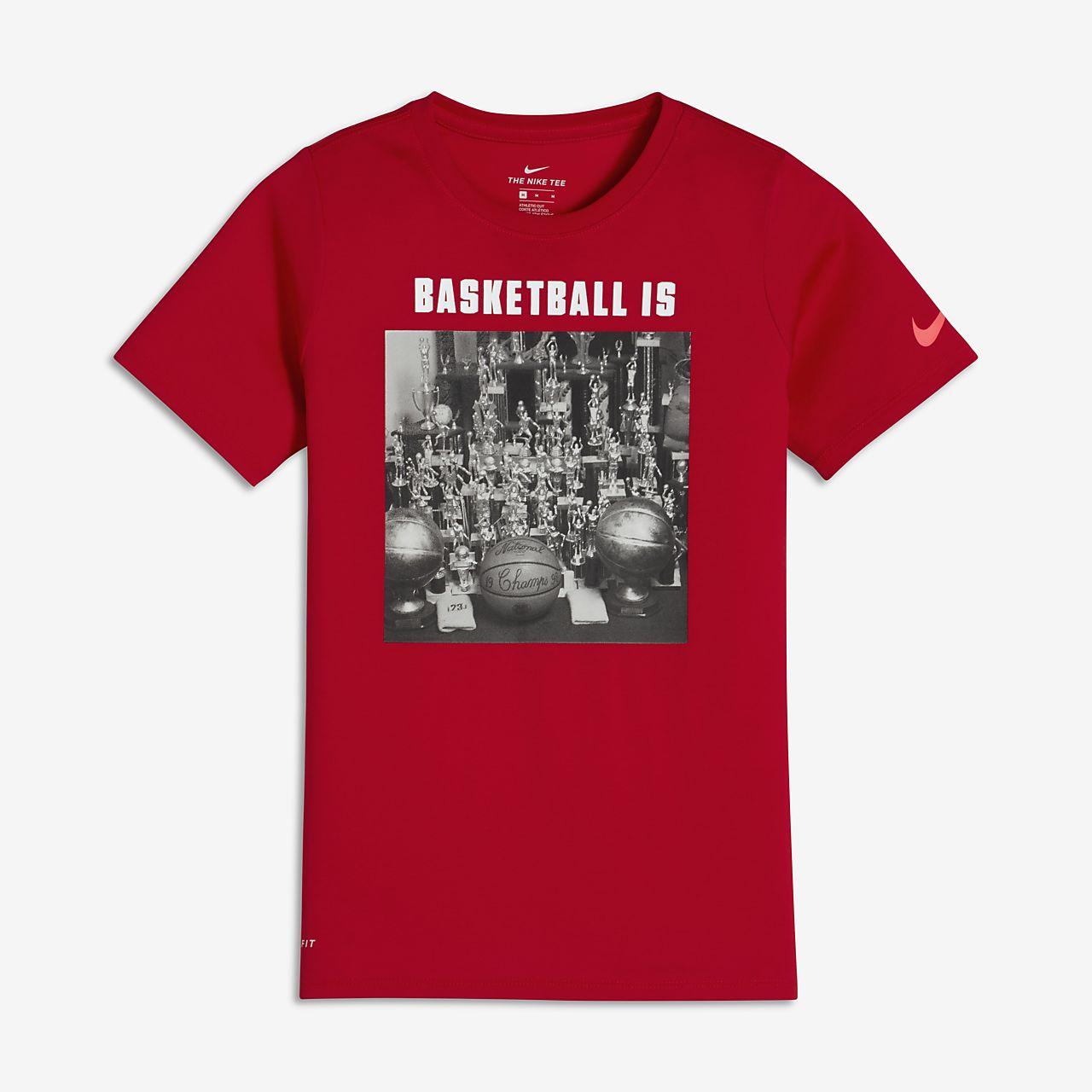 Nike Dry Big Kids' Training T-Shirts University Red/White