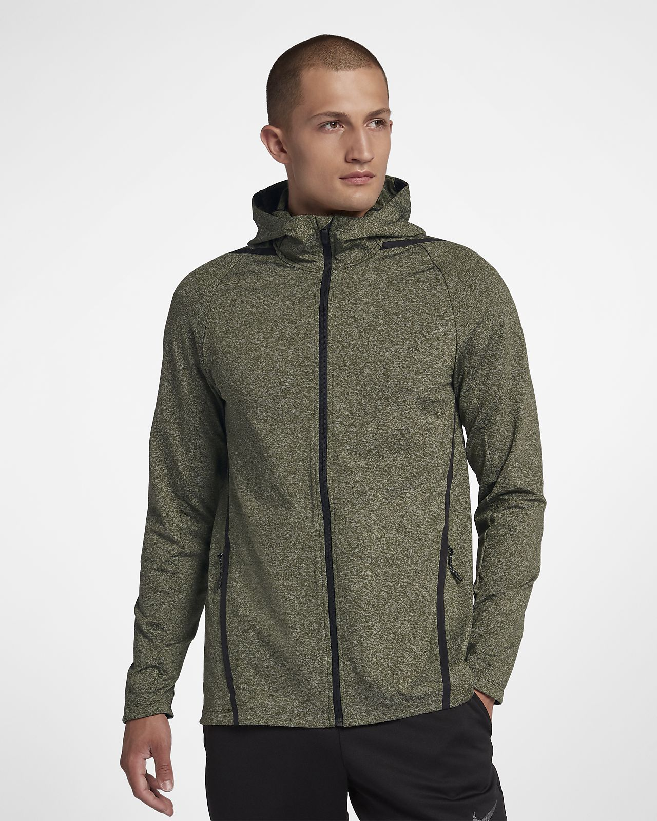 Nike Dri-FIT Men's Long-Sleeve Full-Zip Training Hoodie