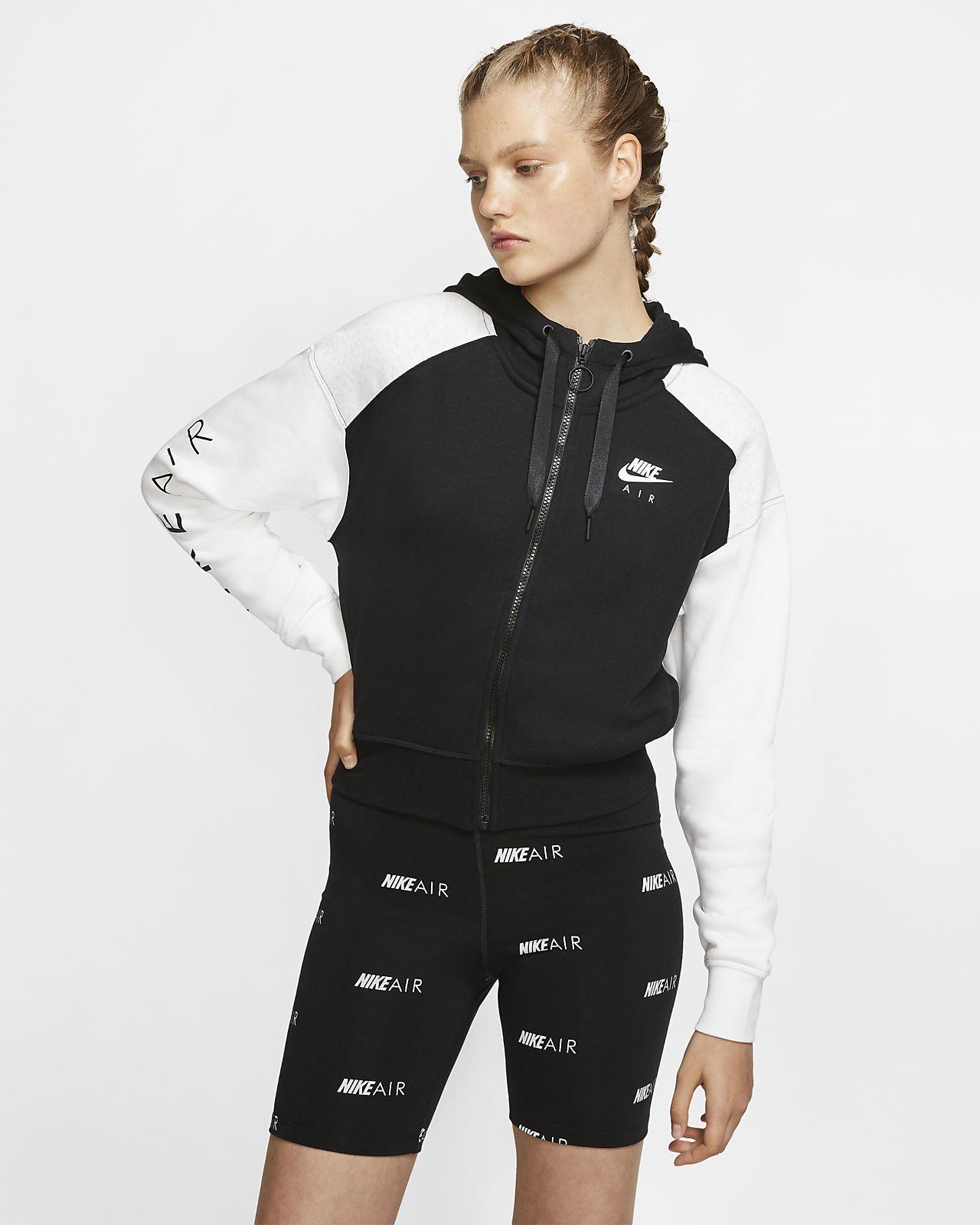 mit durchgehendem Reißverschluss Nike Damen Air Hoodie rdBeQoxCW