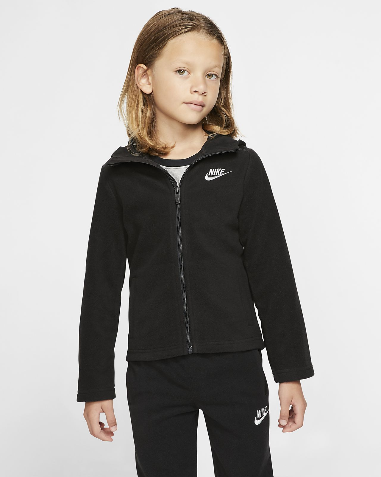 Nike Dri-FIT Younger Kids' Full-Zip Hoodie