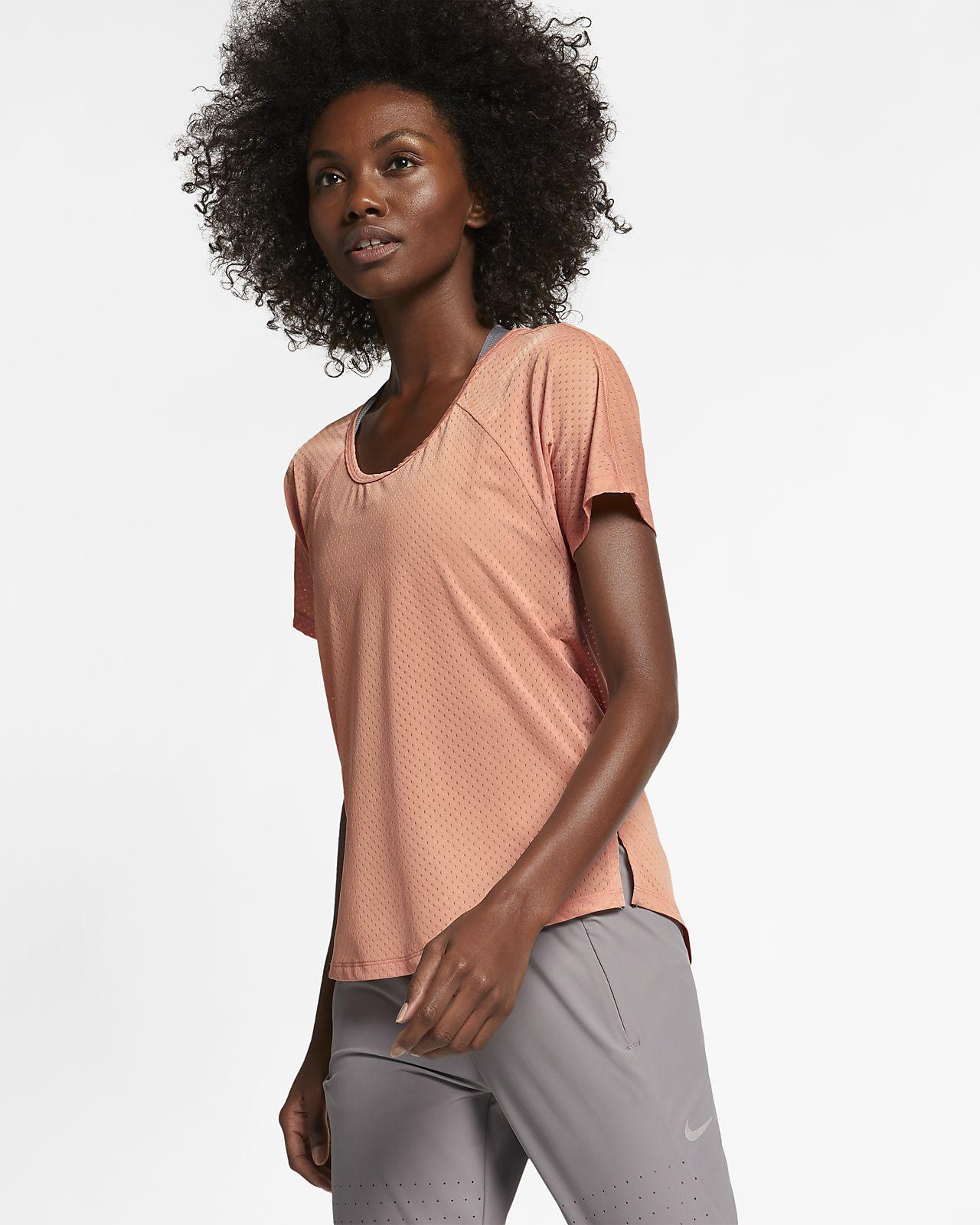 Nike Breathe Miler løpeoverdel til dame