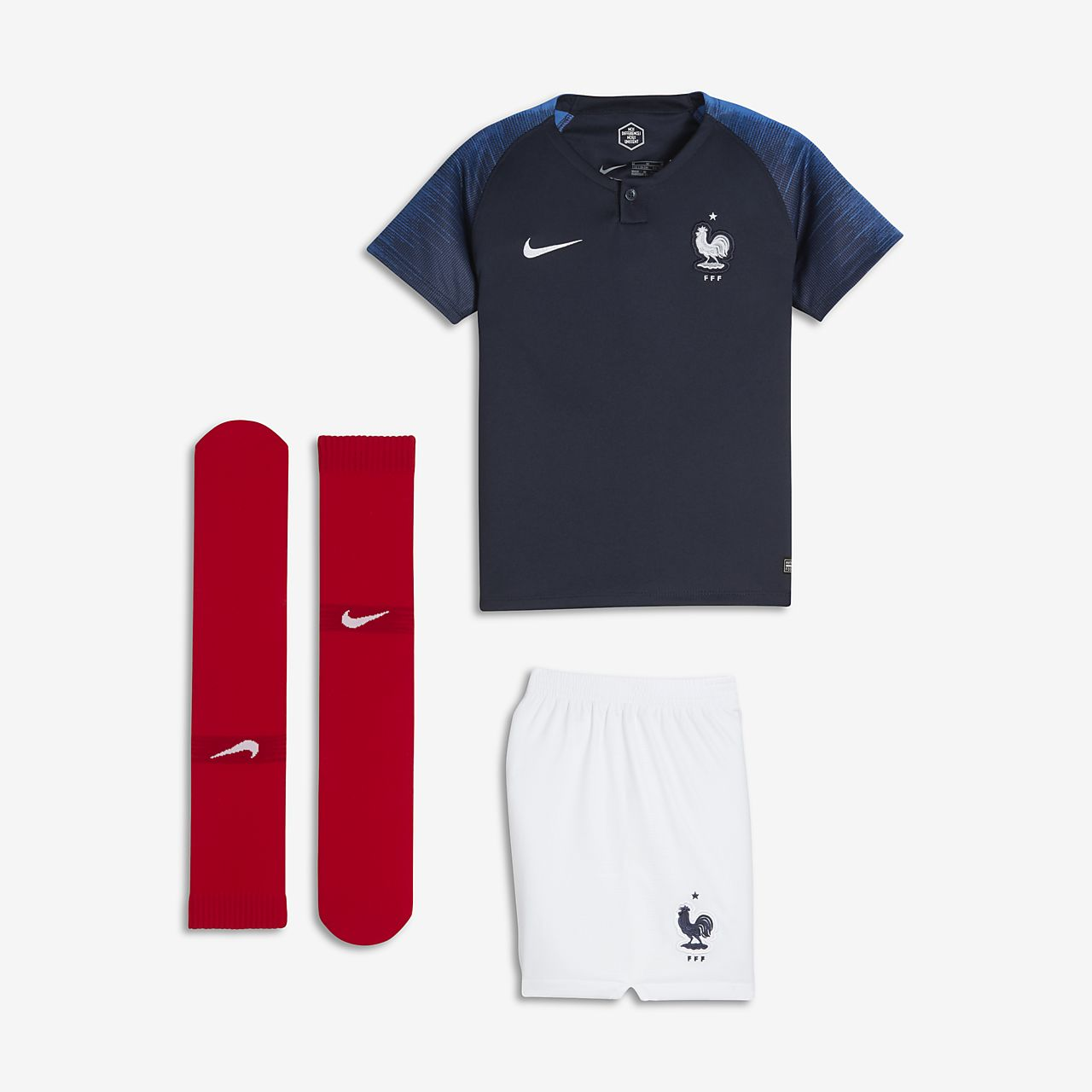 ca0db8e14 2018 FFF Stadium Home Younger Kids  Football Kit. Nike.com PT