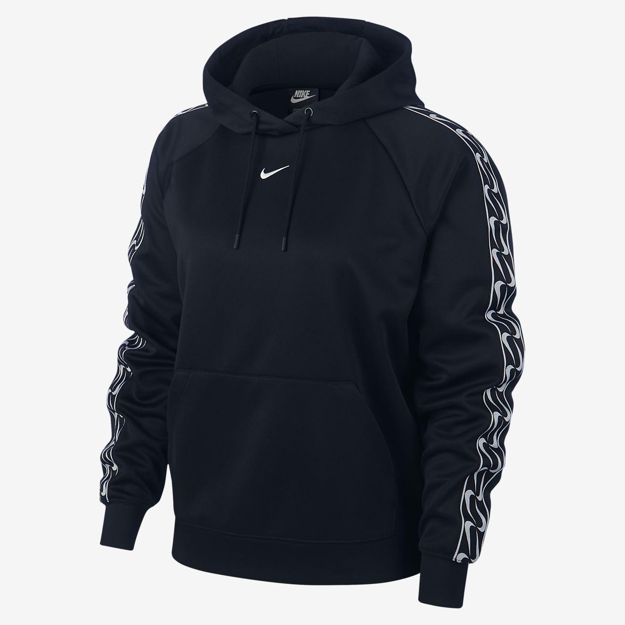 Nike Sportswear-pullover-hættetrøje med logo til kvinder
