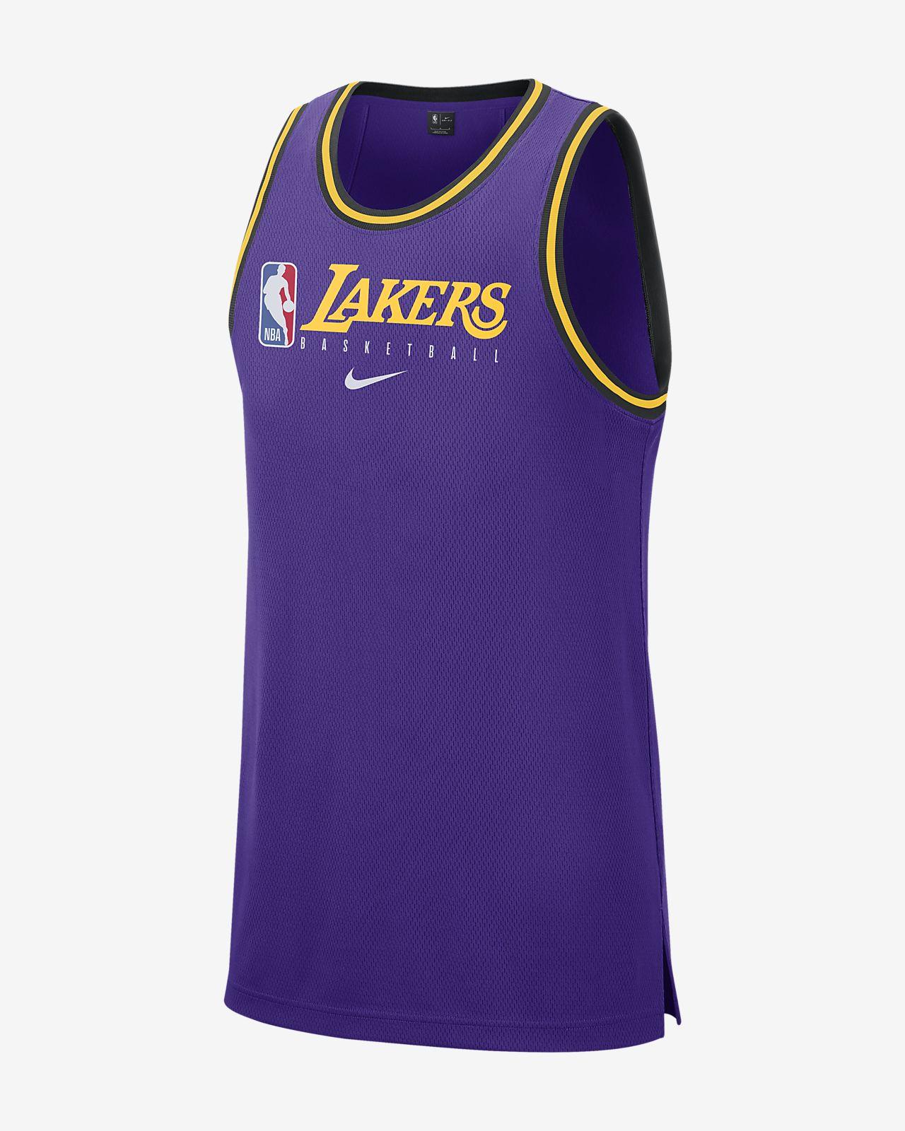 Camiseta de tirantes de la NBA para hombre Los Angeles Lakers Nike Dri-FIT