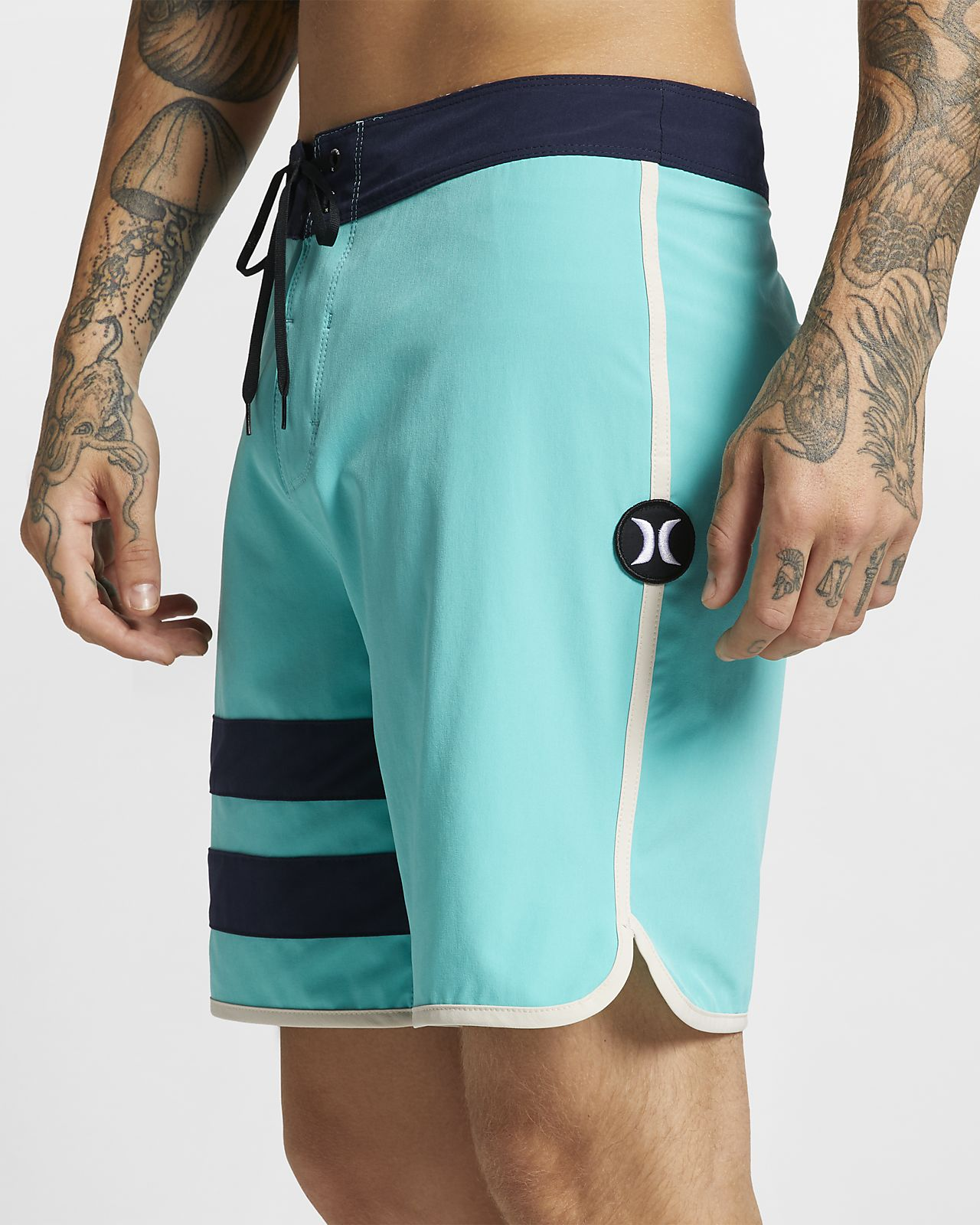Hurley Phantom Block Party Solid Herren-Boardshorts (ca. 45,5 cm)