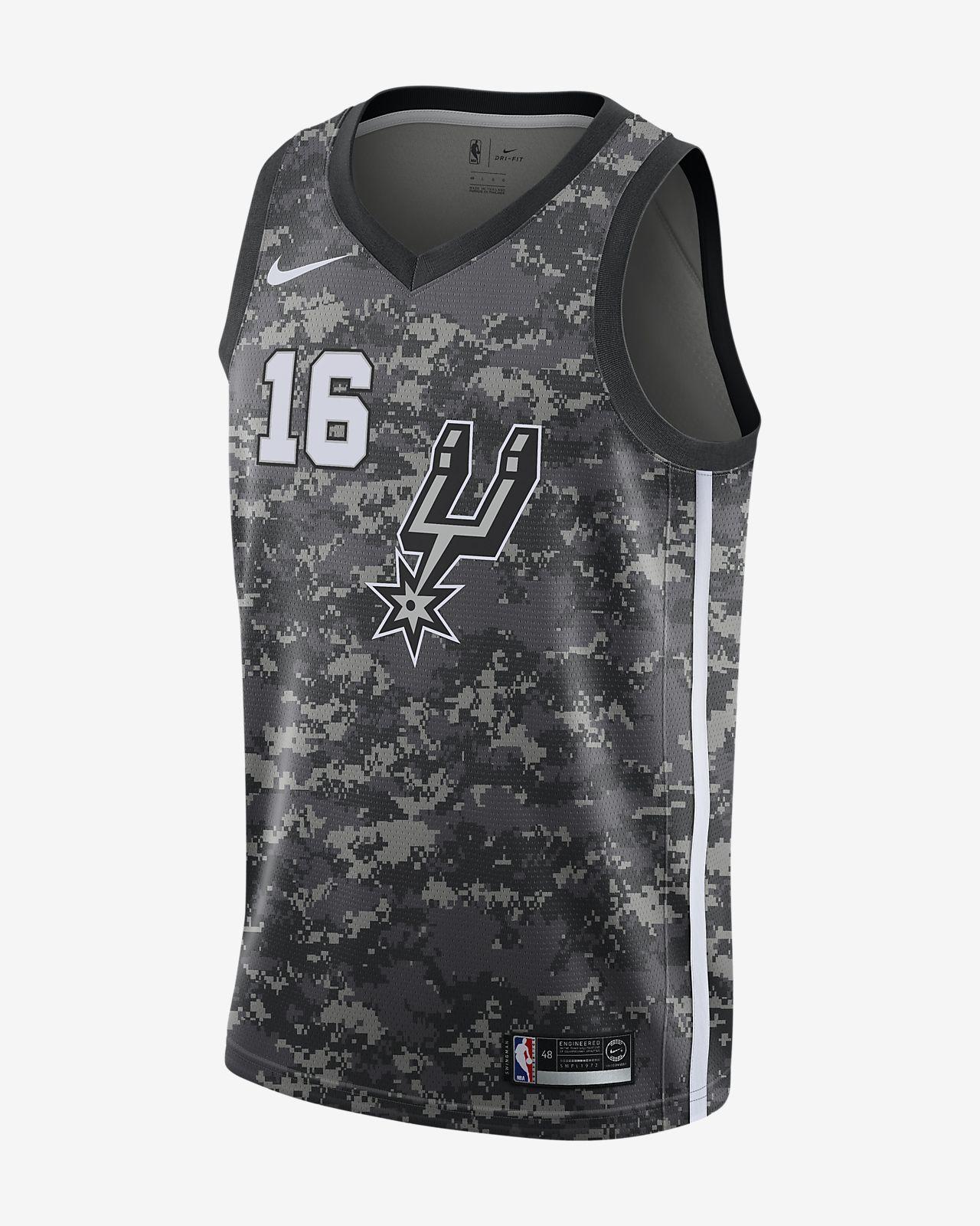 official photos 72121 2a627 Pau Gasol City Edition Swingman Jersey (San Antonio Spurs) Men's Nike NBA  Jersey