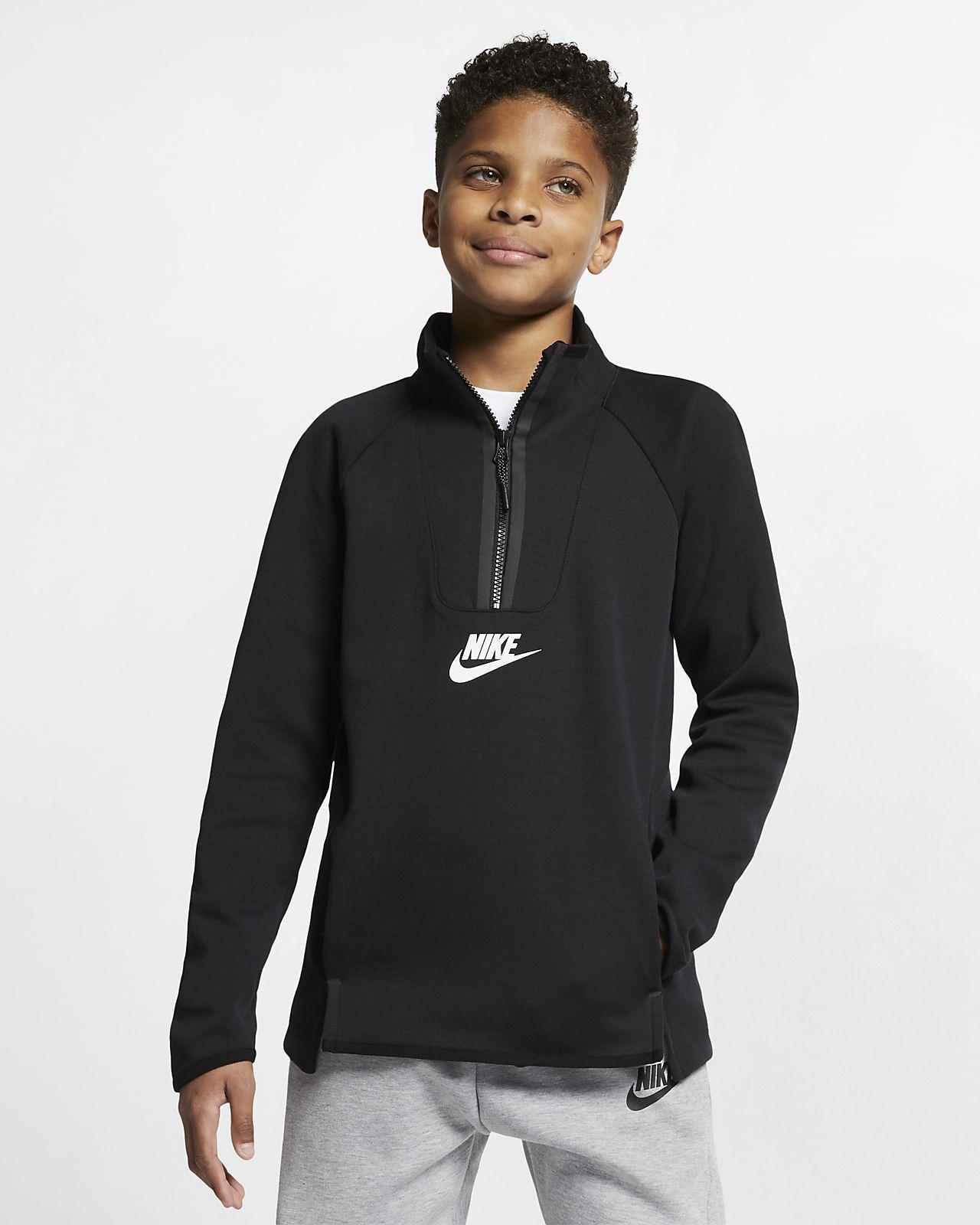 Långärmad tröja Nike Sportswear Tech Fleece för barn