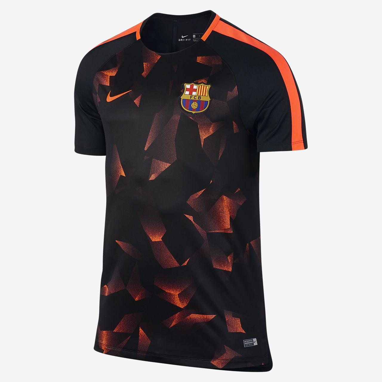 FC Barcelona Dry Squad 男款短袖足球上衣