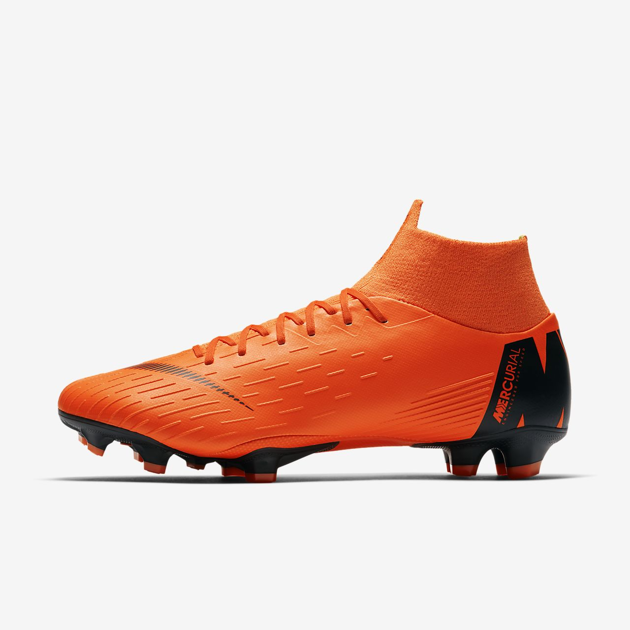 Nike Mercurial Superfly VI Academy MG, Chaussures de Football Homme, Noir (Black/Total Orange-W 081), 40.5 EU