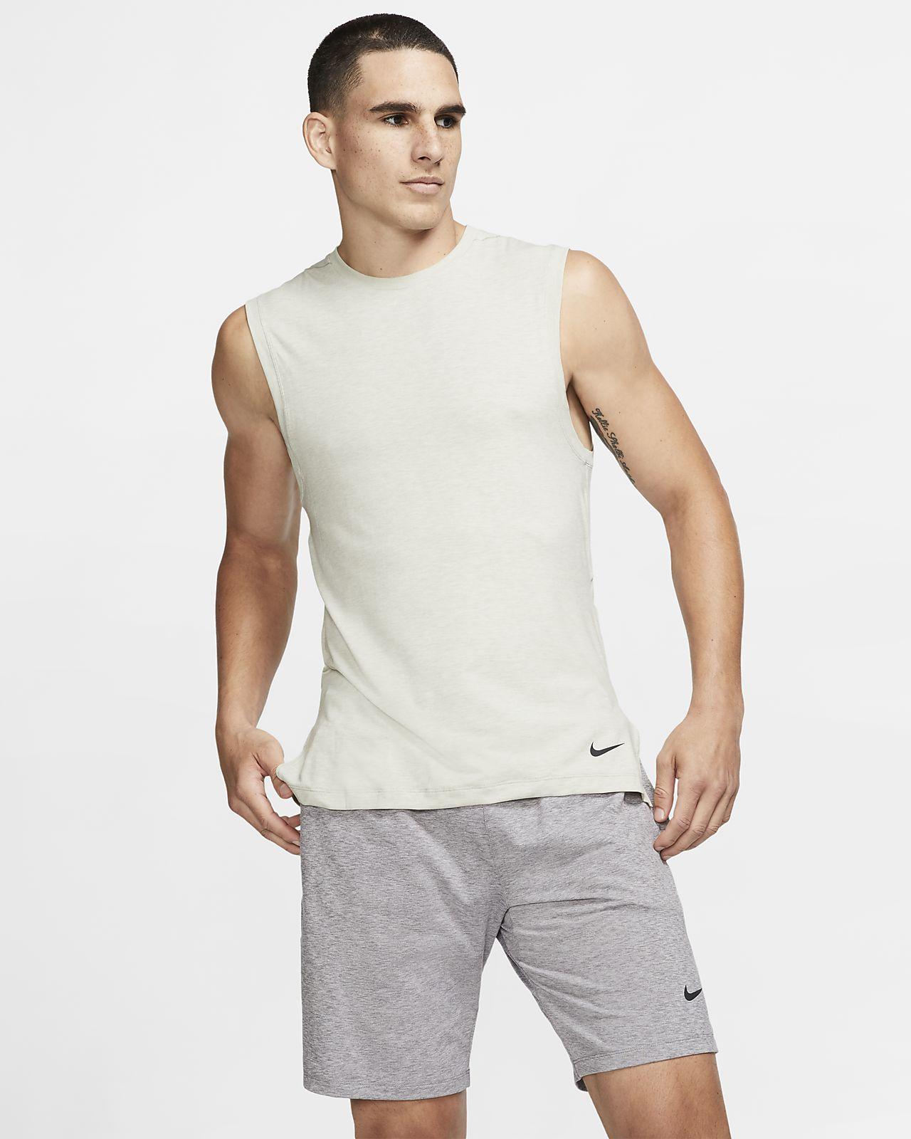 Męska koszulka treningowa bez rękawów do jogi Nike Dri-FIT