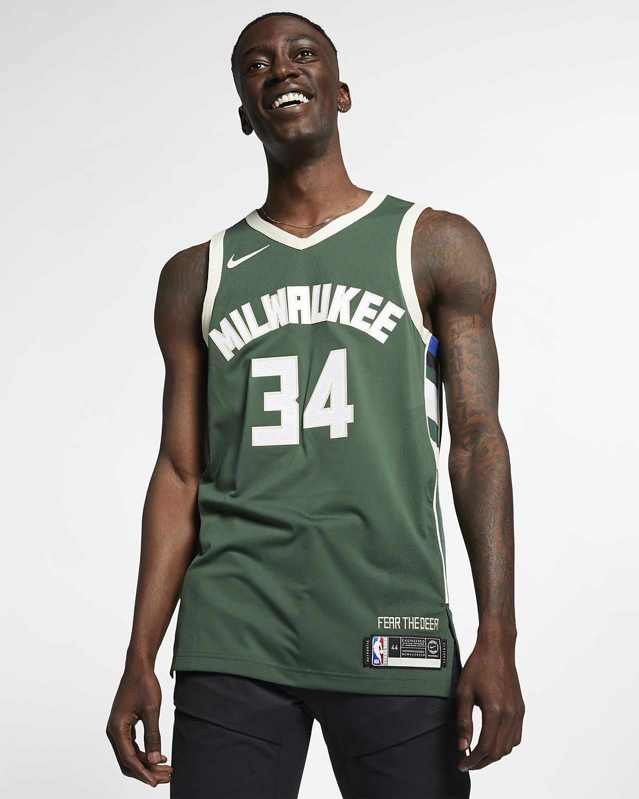 finest selection 42c93 ea0fb Giannis Antetokounmpo Icon Edition Authentic (Milwaukee Bucks) Men's Nike  NBA Connected Jersey