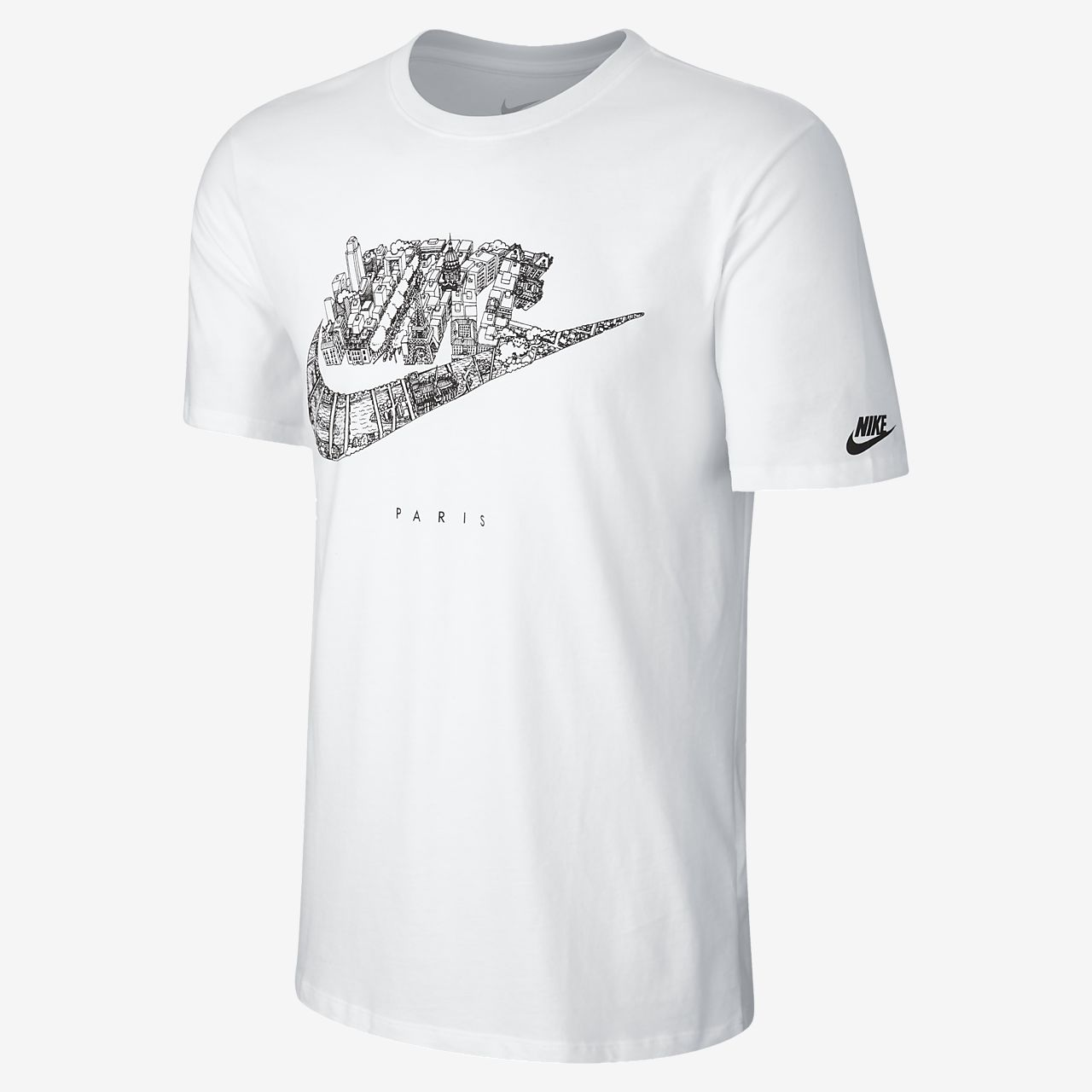 Nike cityscape paris men 39 s t shirt gb for Nike flyknit t shirt