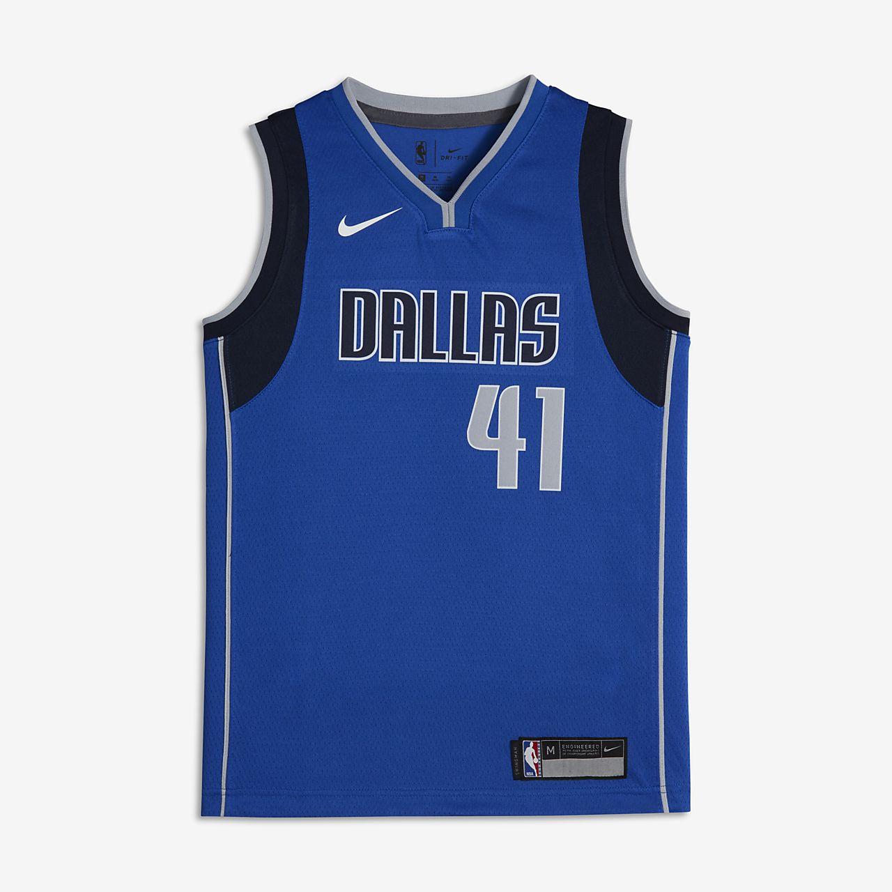 san francisco f2020 b9c51 Dirk Nowitzki Dallas Mavericks Nike Icon Edition Swingman Big Kids' NBA  Jersey