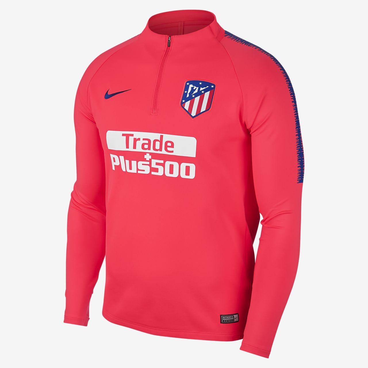 Dri Atlético Madrid Squad Manga Fit De Camiseta Drill Fútbol qZBRZASTW