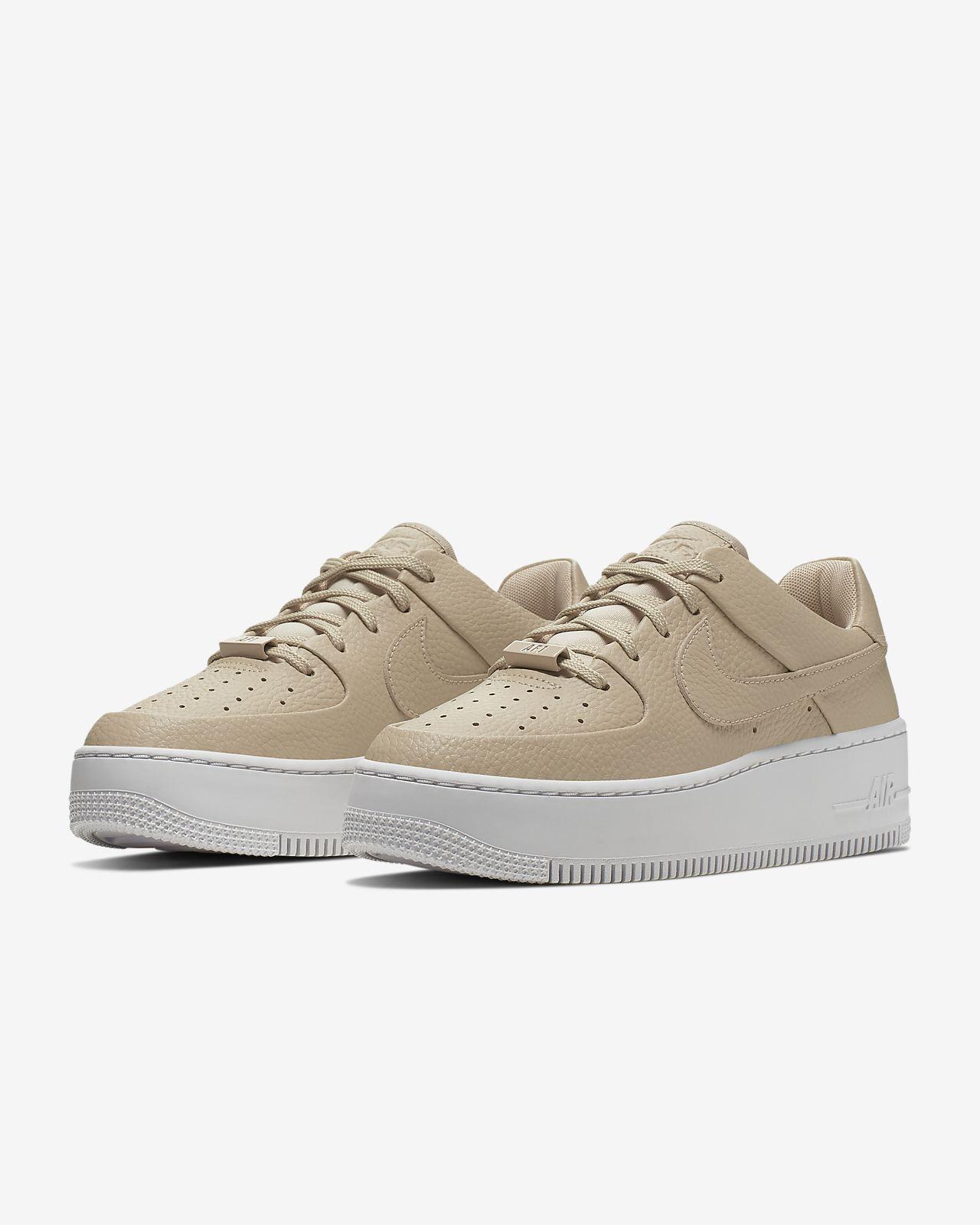 Air Force 1 Sage Low Platform Sneaker In Brown