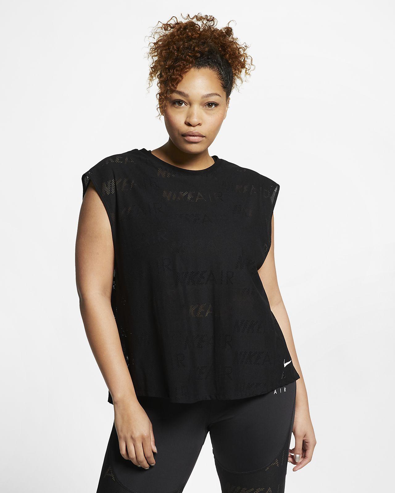 Женская беговая футболка с коротким рукавом Nike Air (большие размеры)