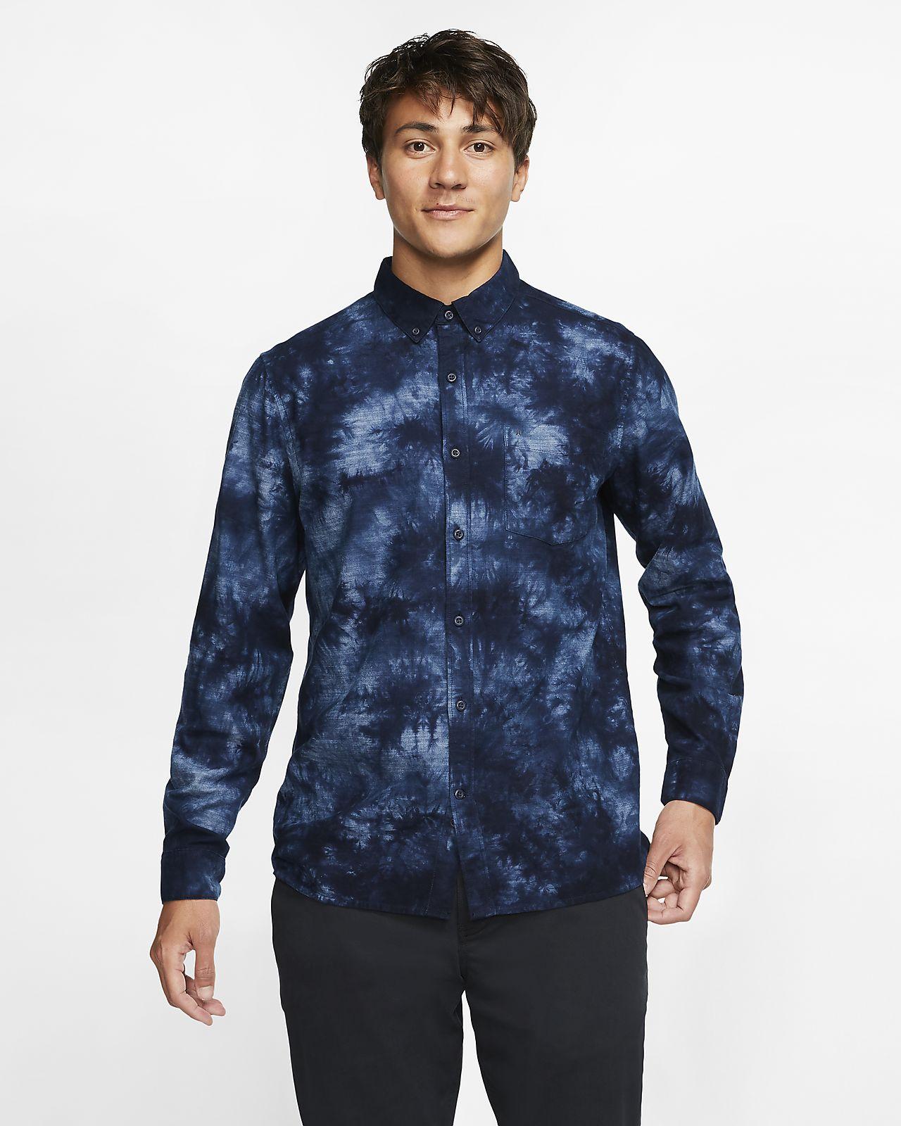 Hurley Jerry Men's Long-Sleeve Woven Top