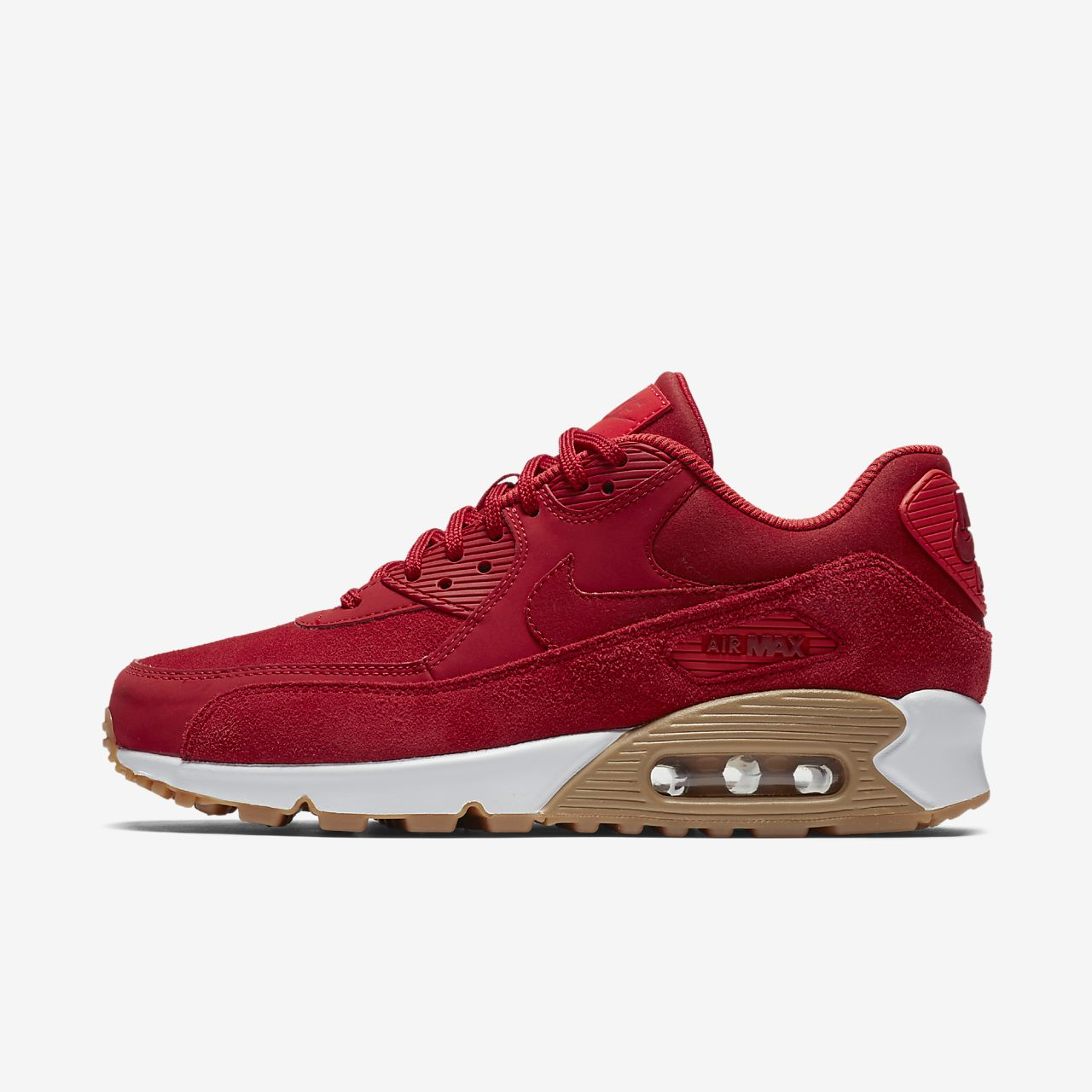 nike air max 90 red suede trainers with gum sole converse