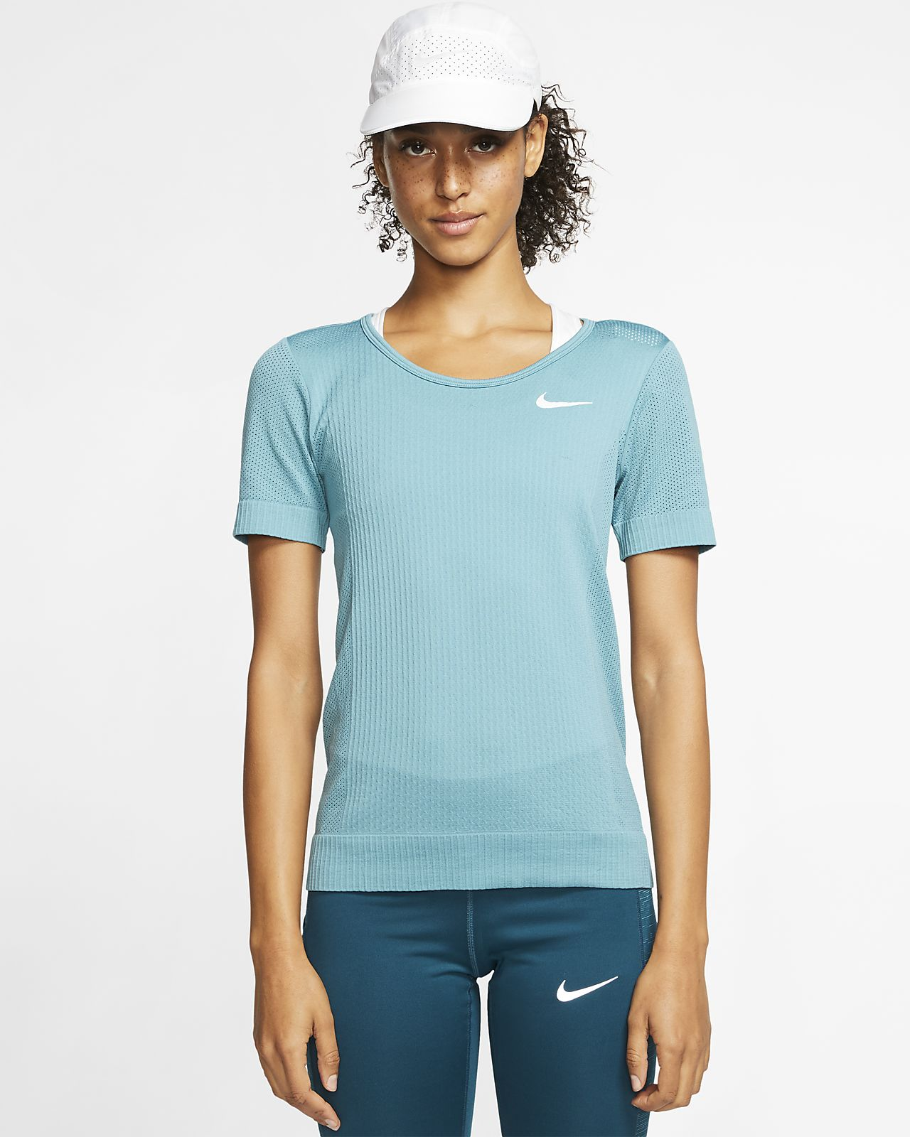 Top da running a manica corta Nike Infinite - Donna