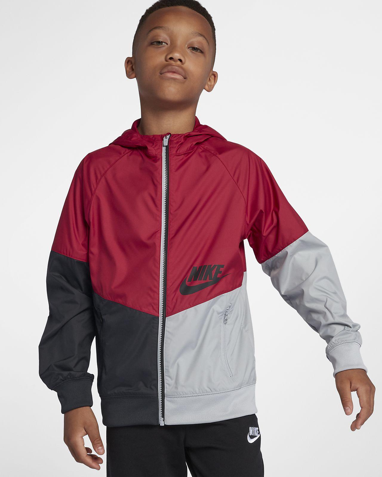 Nike Sportswear Windrunner hettejakke til store barn (gutt)