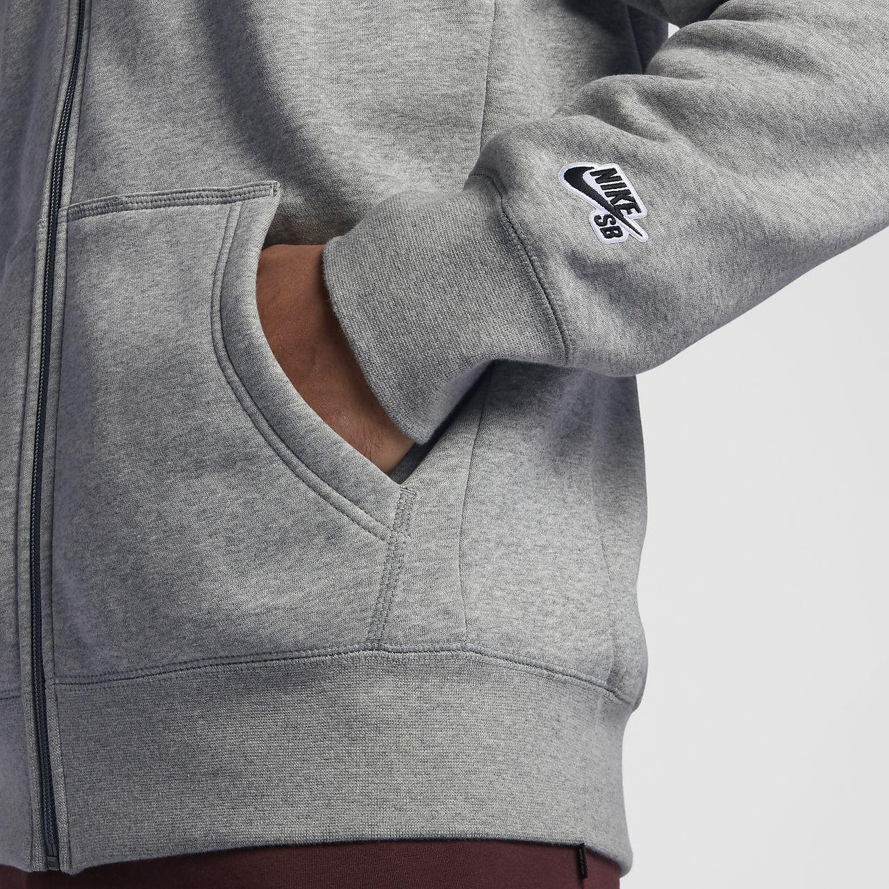 7e6b741b4a Pánská mikina s kapucí a dlouhým zipem Nike SB Essential Icon. Nike ...